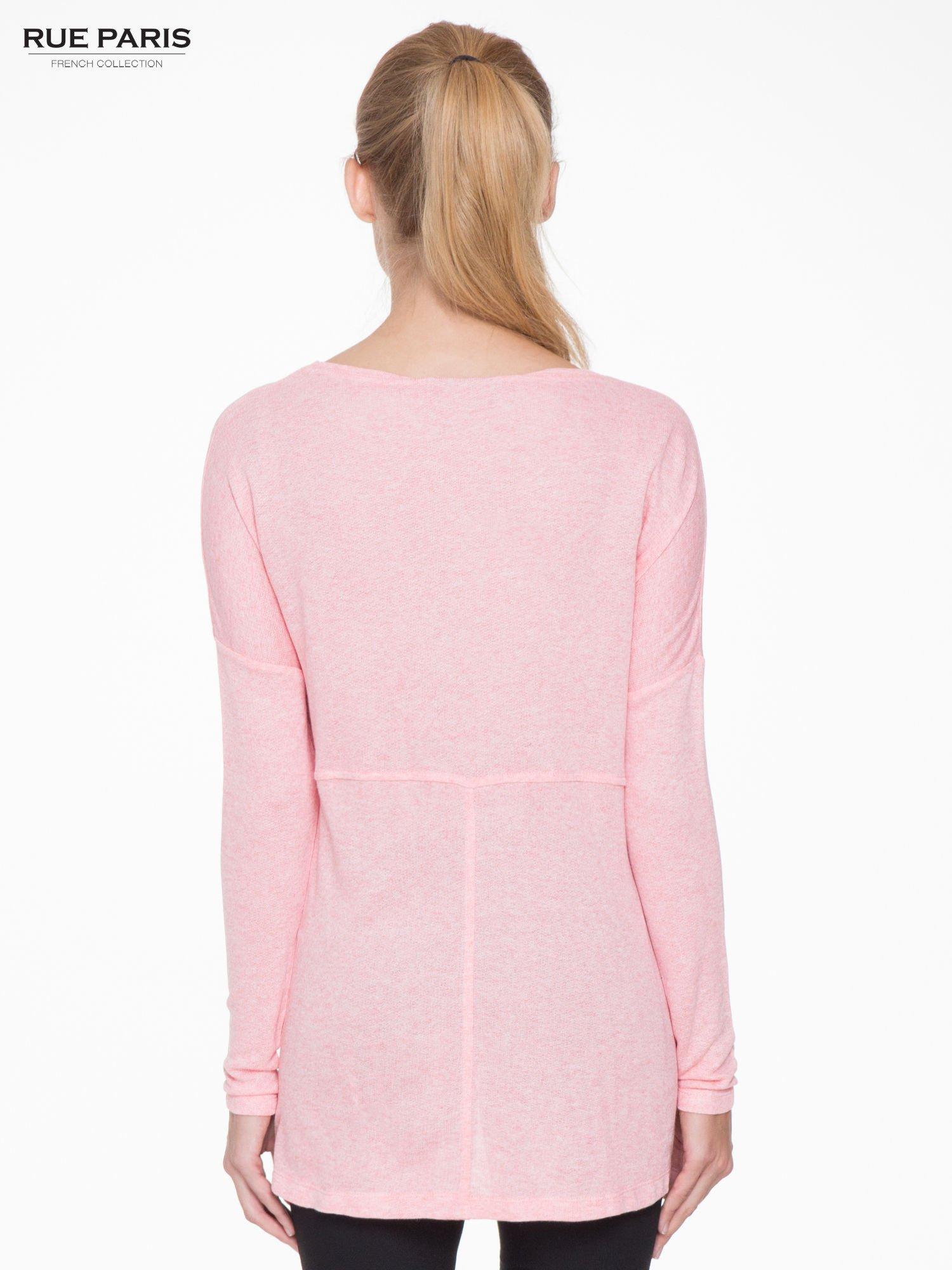 Różowa dresowa bluza oversize z kieszeniami                                  zdj.                                  4