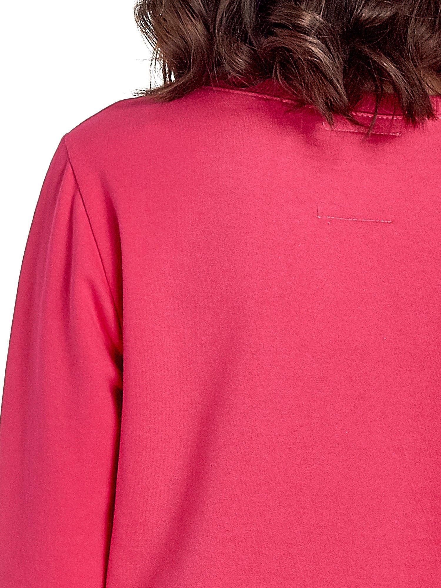 Różowa klasyczna bluza damska z napisem IN LIFE SIMPLE IS BEST                                  zdj.                                  6