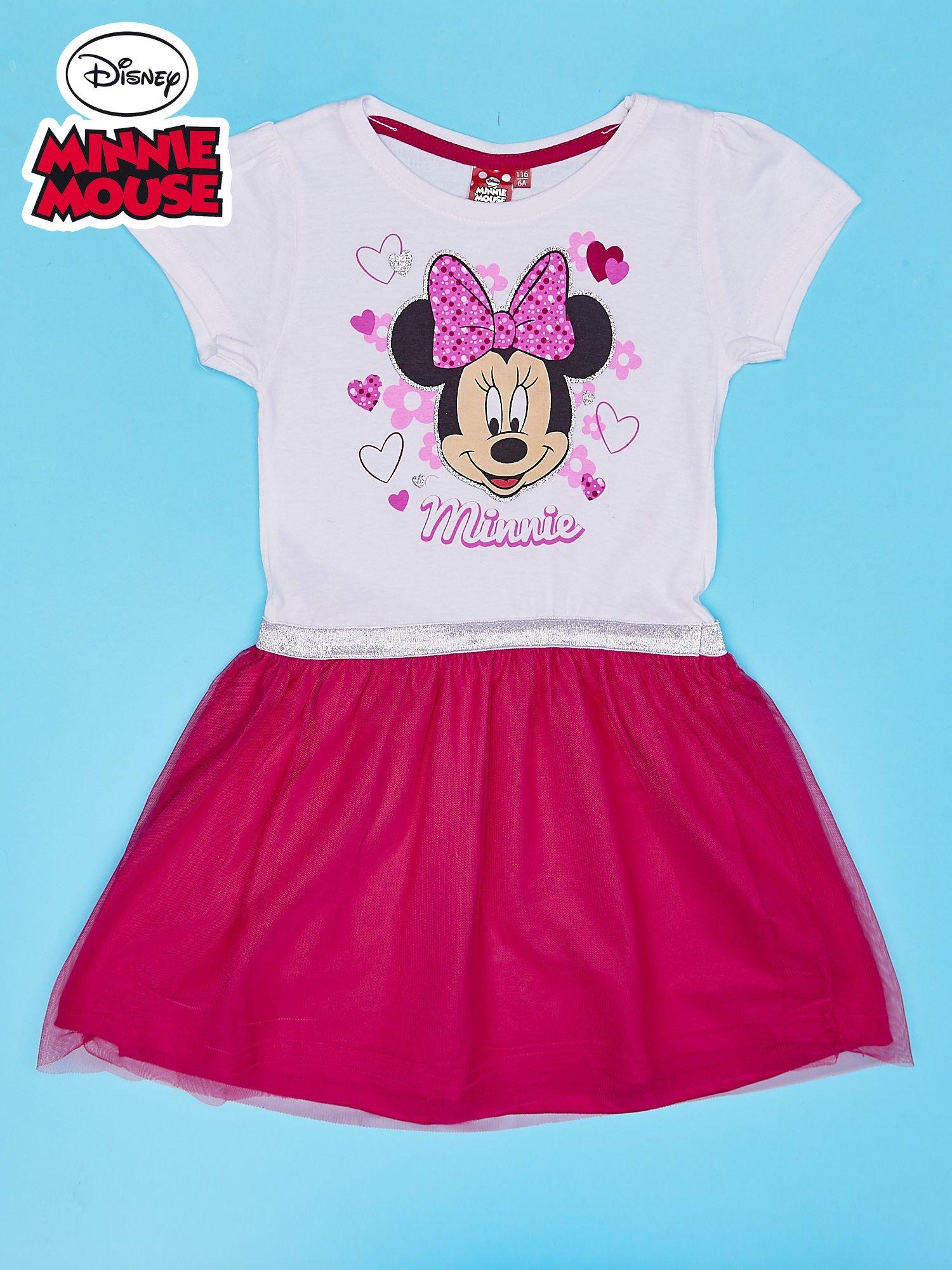 Różowa sukienka bez rękawów dla dziewczynki MINNIE MOUSE                                  zdj.                                  1