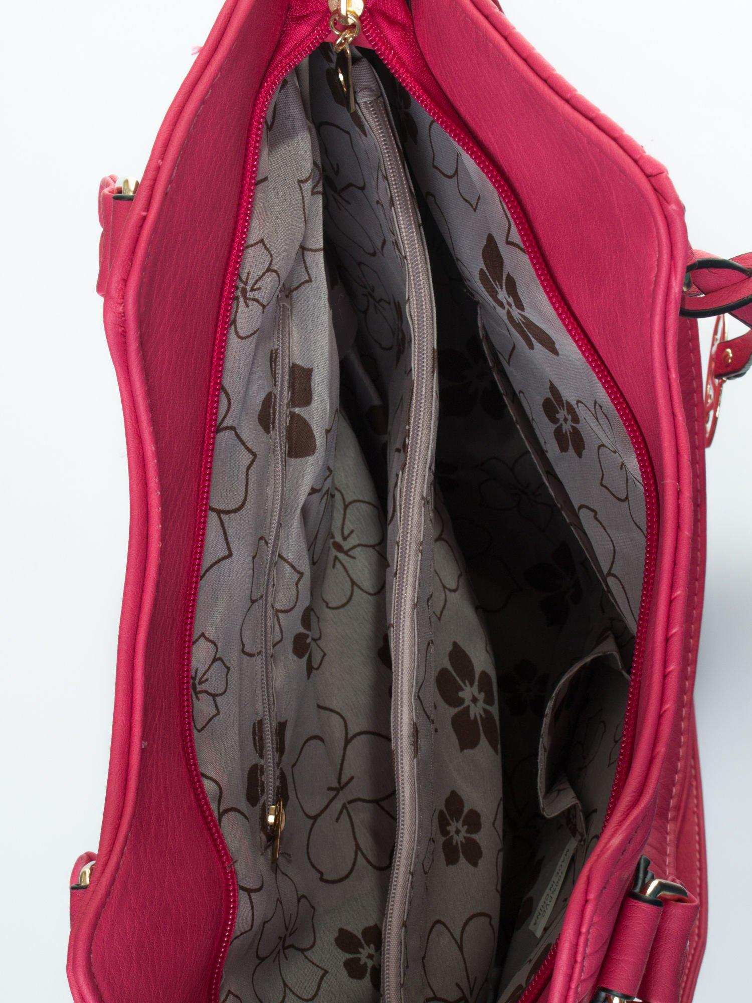 Różowa torebka fakturowana w pasy                                   zdj.                                  5