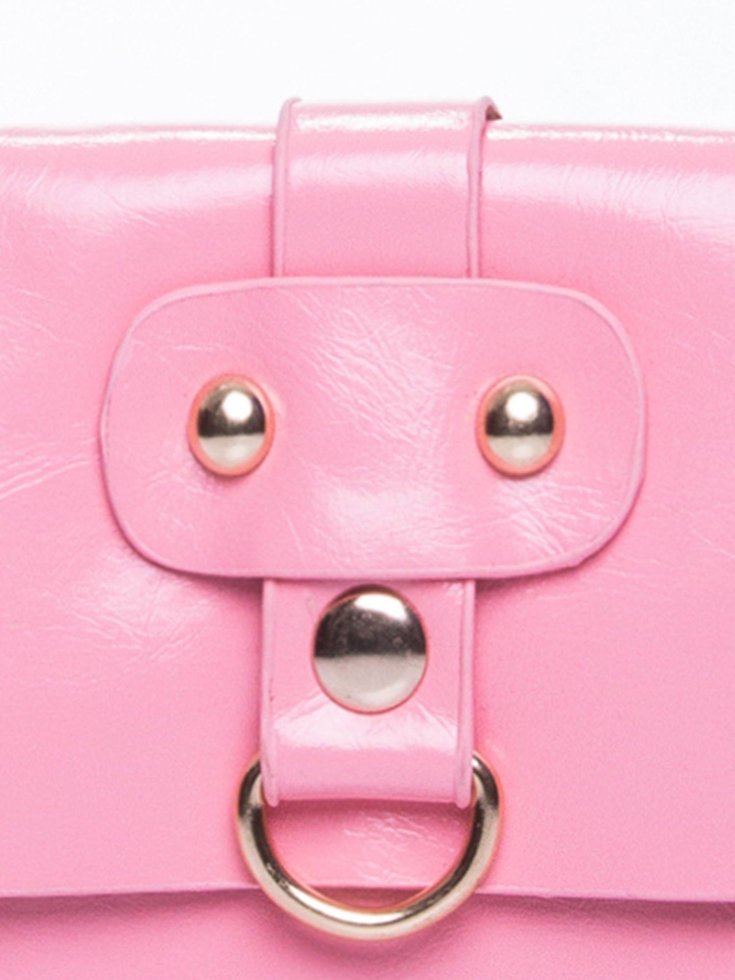Różowa torebka listonoszka z klapką                                  zdj.                                  6