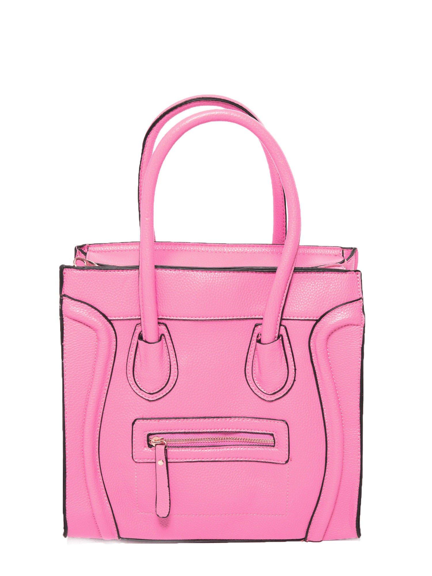 Różowa trapezowa torba miejska                                   zdj.                                  2