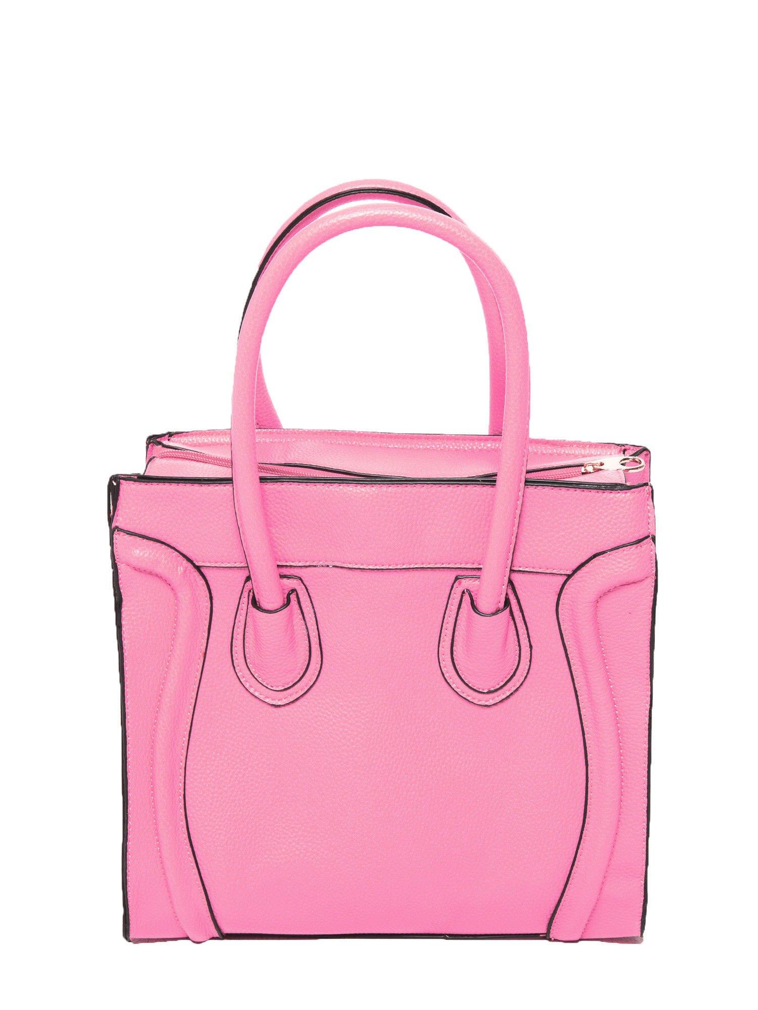 Różowa trapezowa torba miejska                                   zdj.                                  3