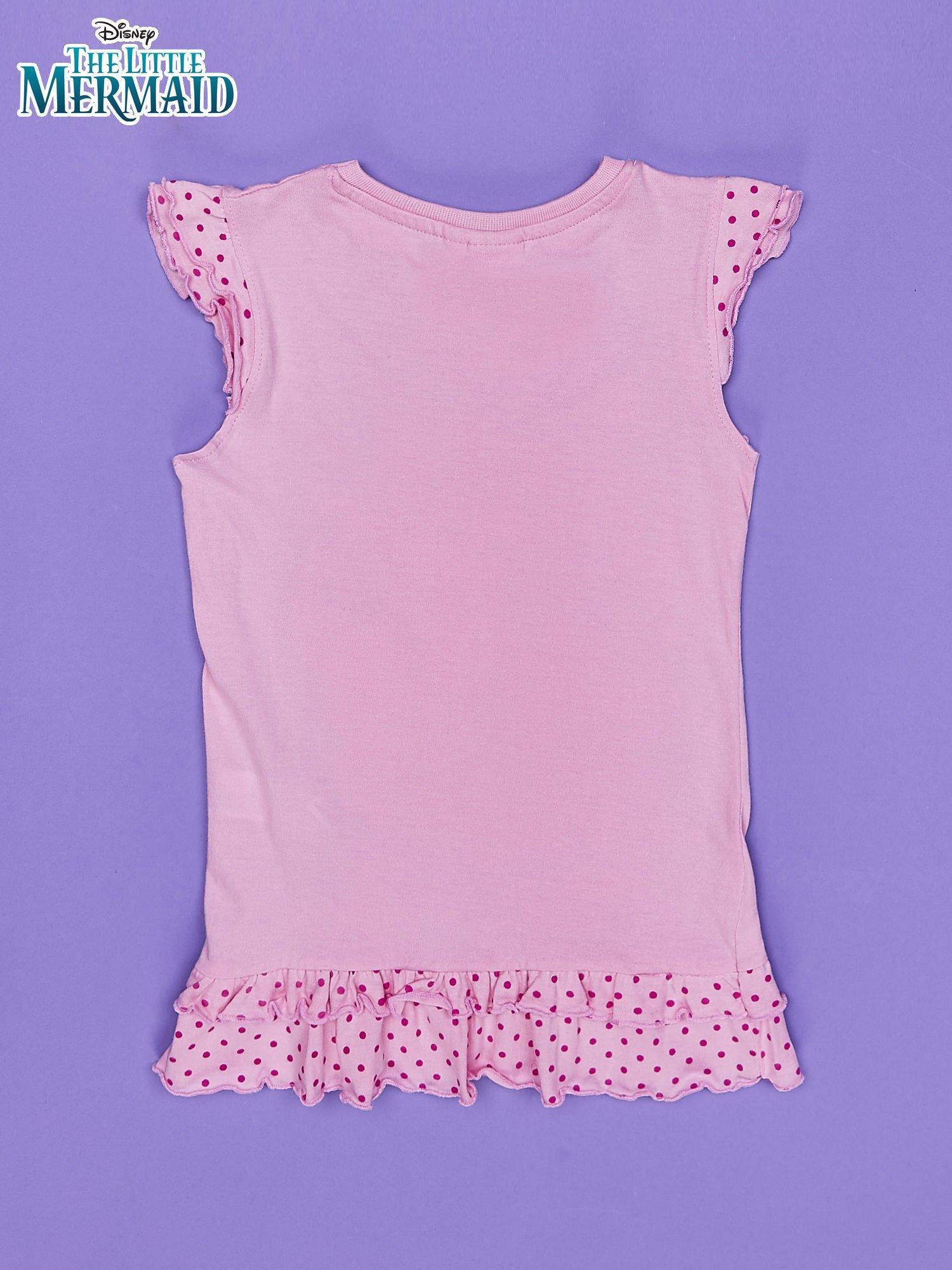 Różowa tunika dla dziewczynki MAŁA SYRENKA                                  zdj.                                  2