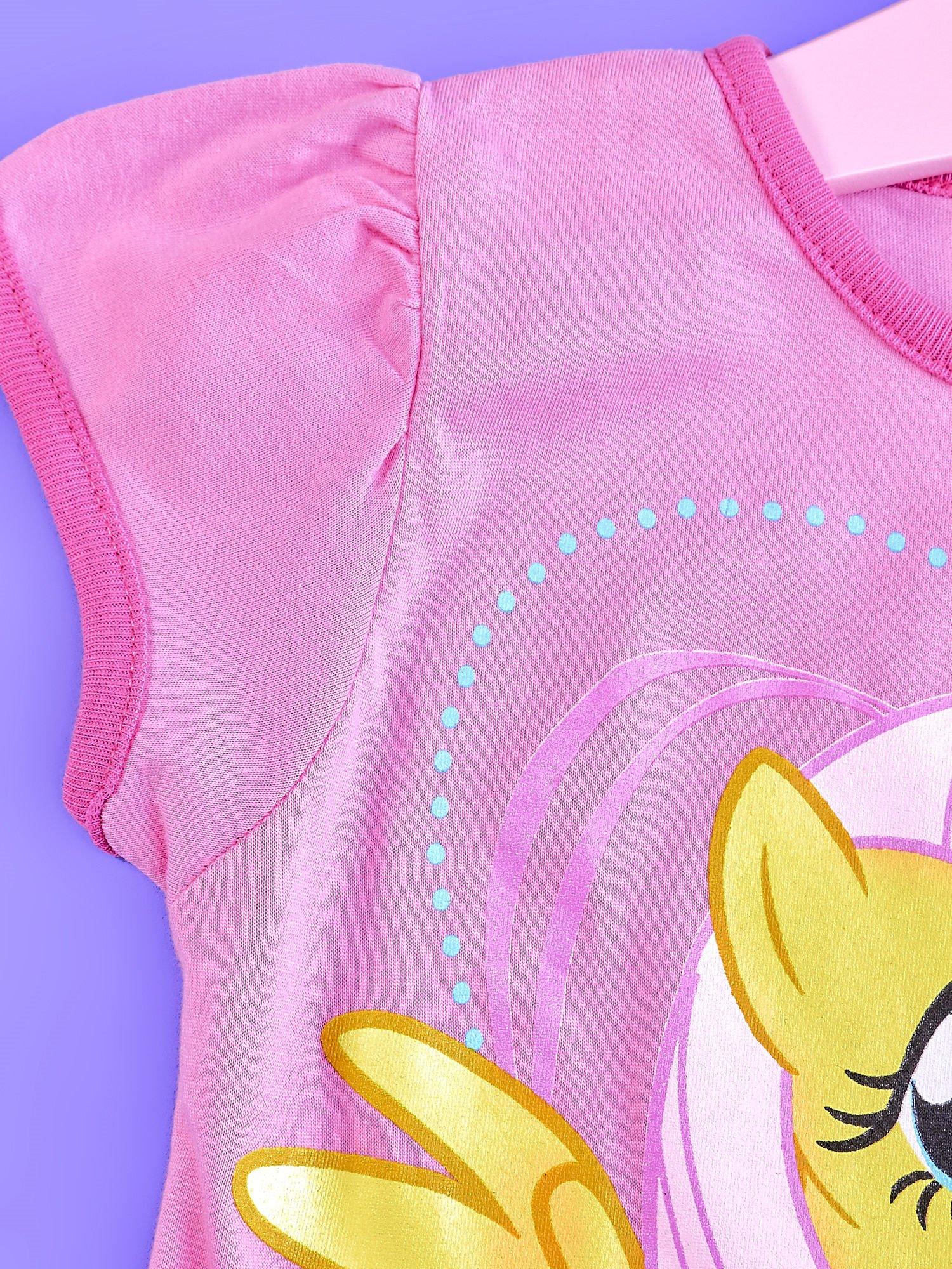 Różowa tunika dla dziewczynki MY LITTLE PONY z kokardką                                  zdj.                                  3