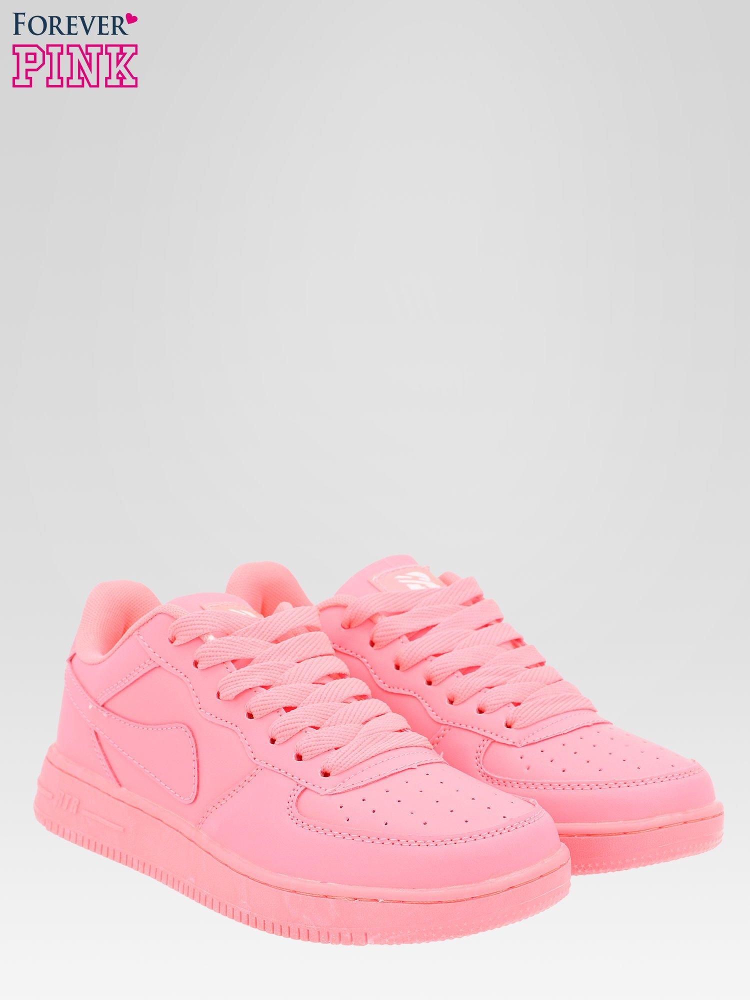 Różowe buty sportowe na grubej podeszwie                                  zdj.                                  2