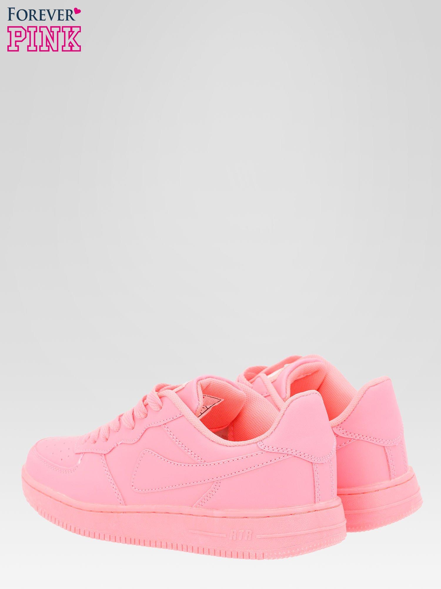 Różowe buty sportowe na grubej podeszwie                                  zdj.                                  5