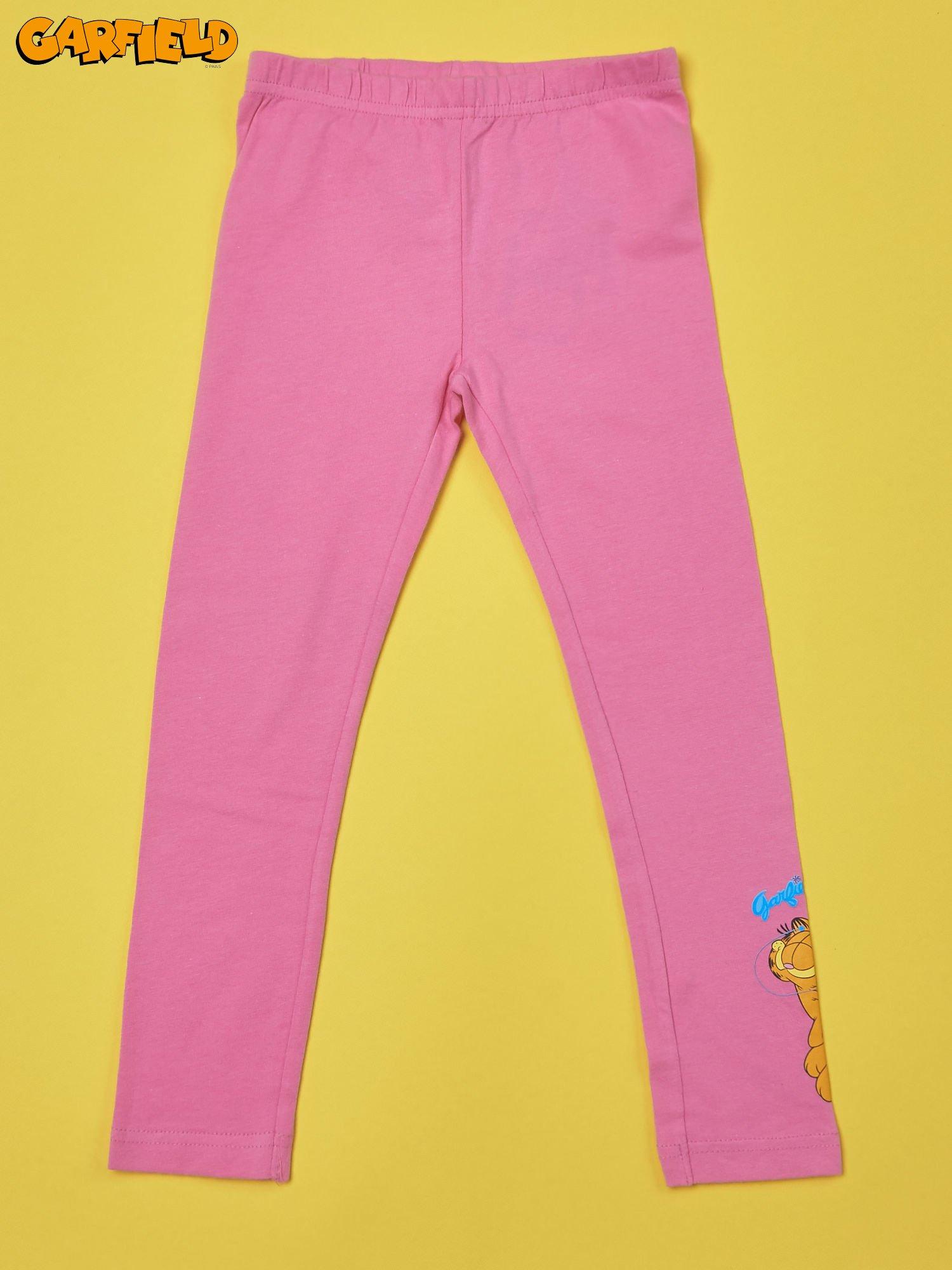 Różowe legginsy dla dziewczynki GARFIELD                                  zdj.                                  1