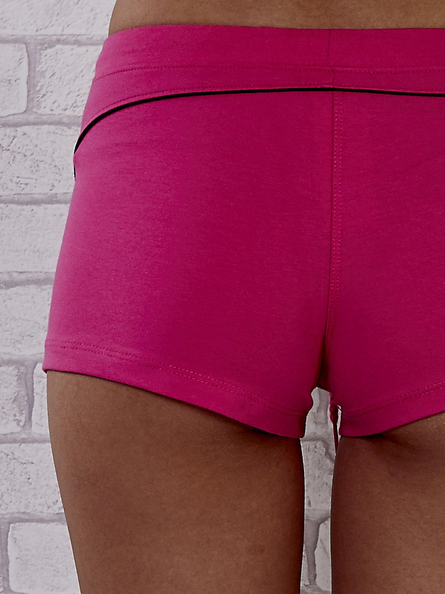 Różowe szorty sportowe z czarną wstawką                                  zdj.                                  5