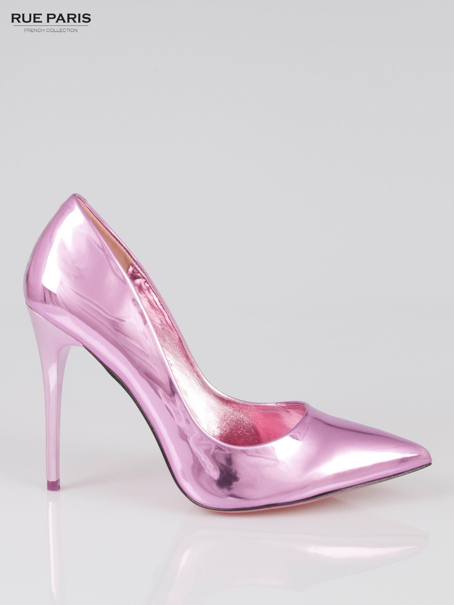 Różowe szpilki metaliczne Mirror Heels                                  zdj.                                  1