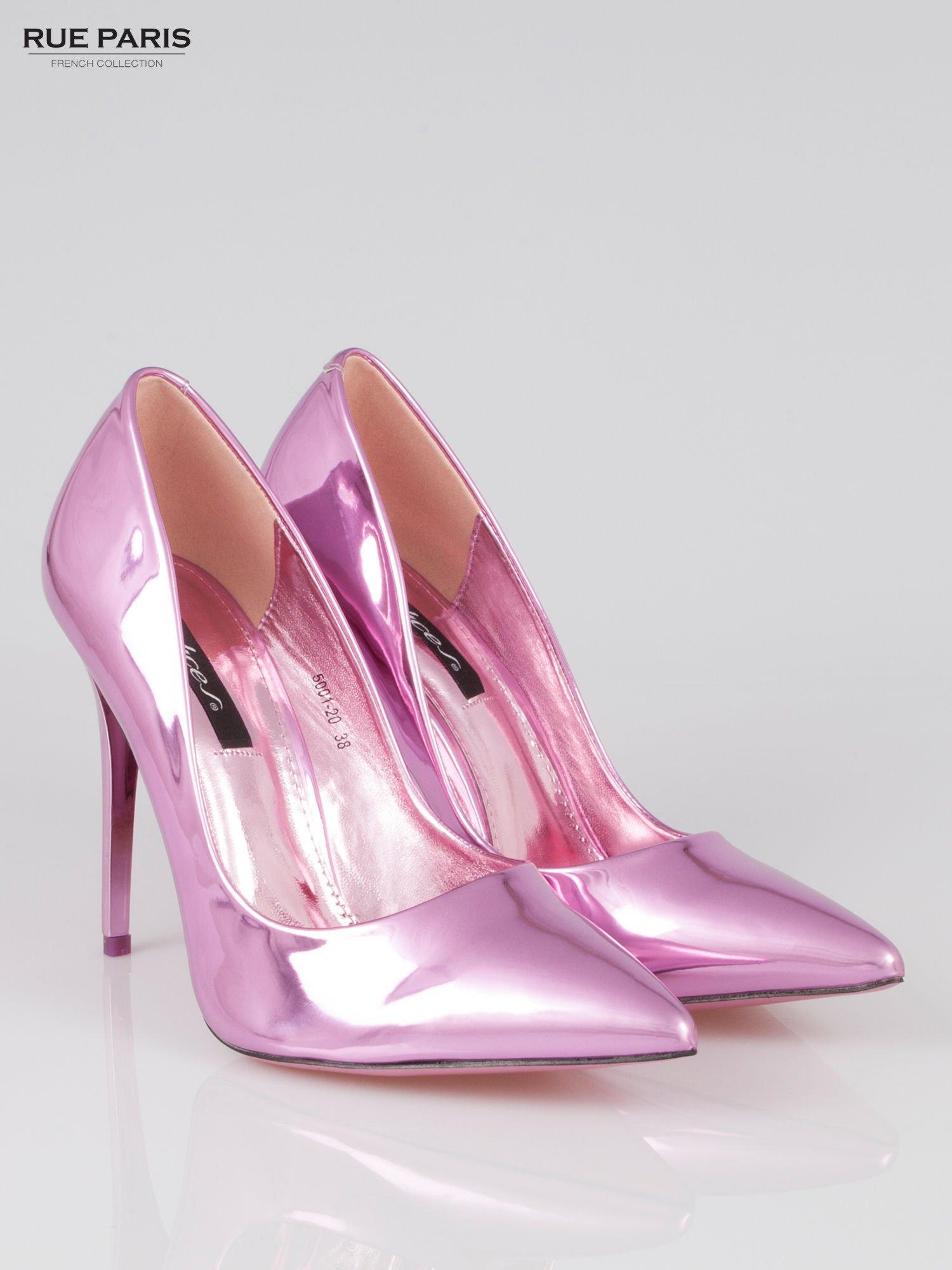 Różowe szpilki metaliczne Mirror Heels                                  zdj.                                  2