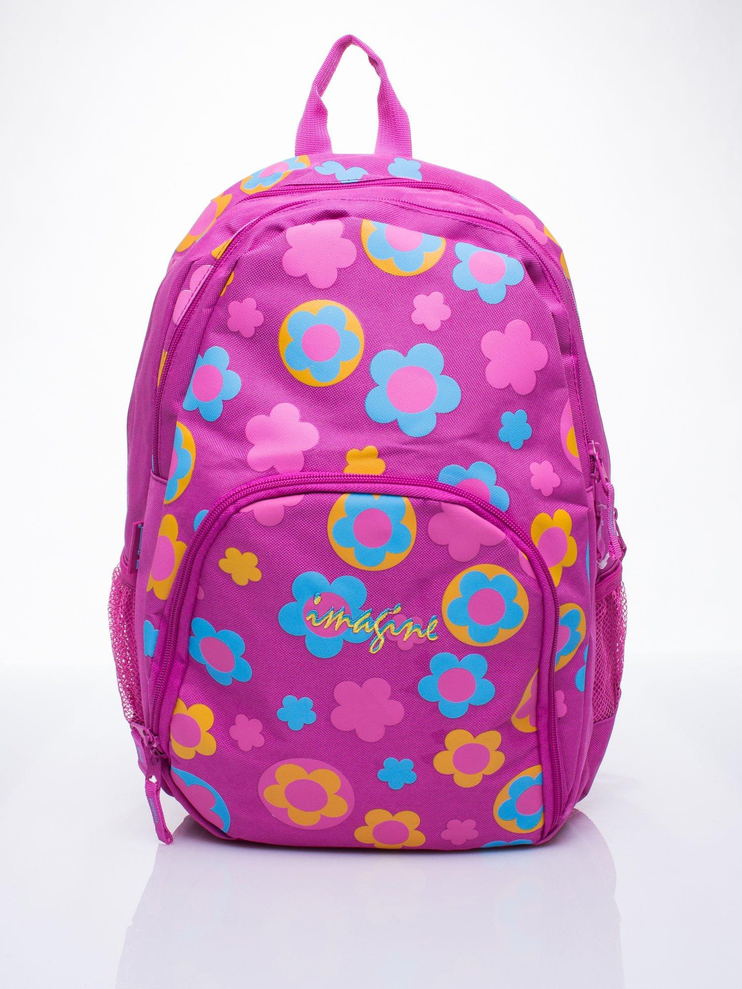 Różowy plecak dla dziewczynki DISNEY w kwiatki                                  zdj.                                  1