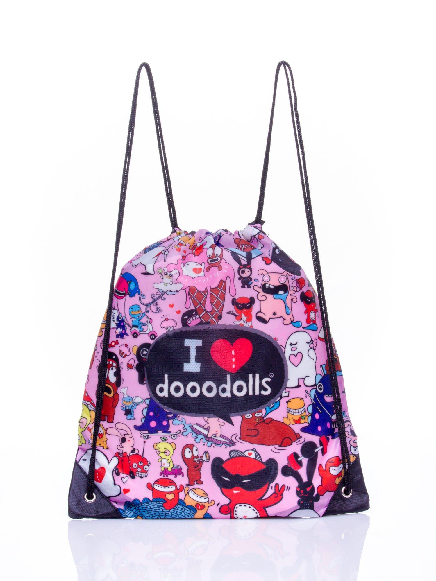 Różowy plecak worek DISNEY Doodolls                                  zdj.                                  1