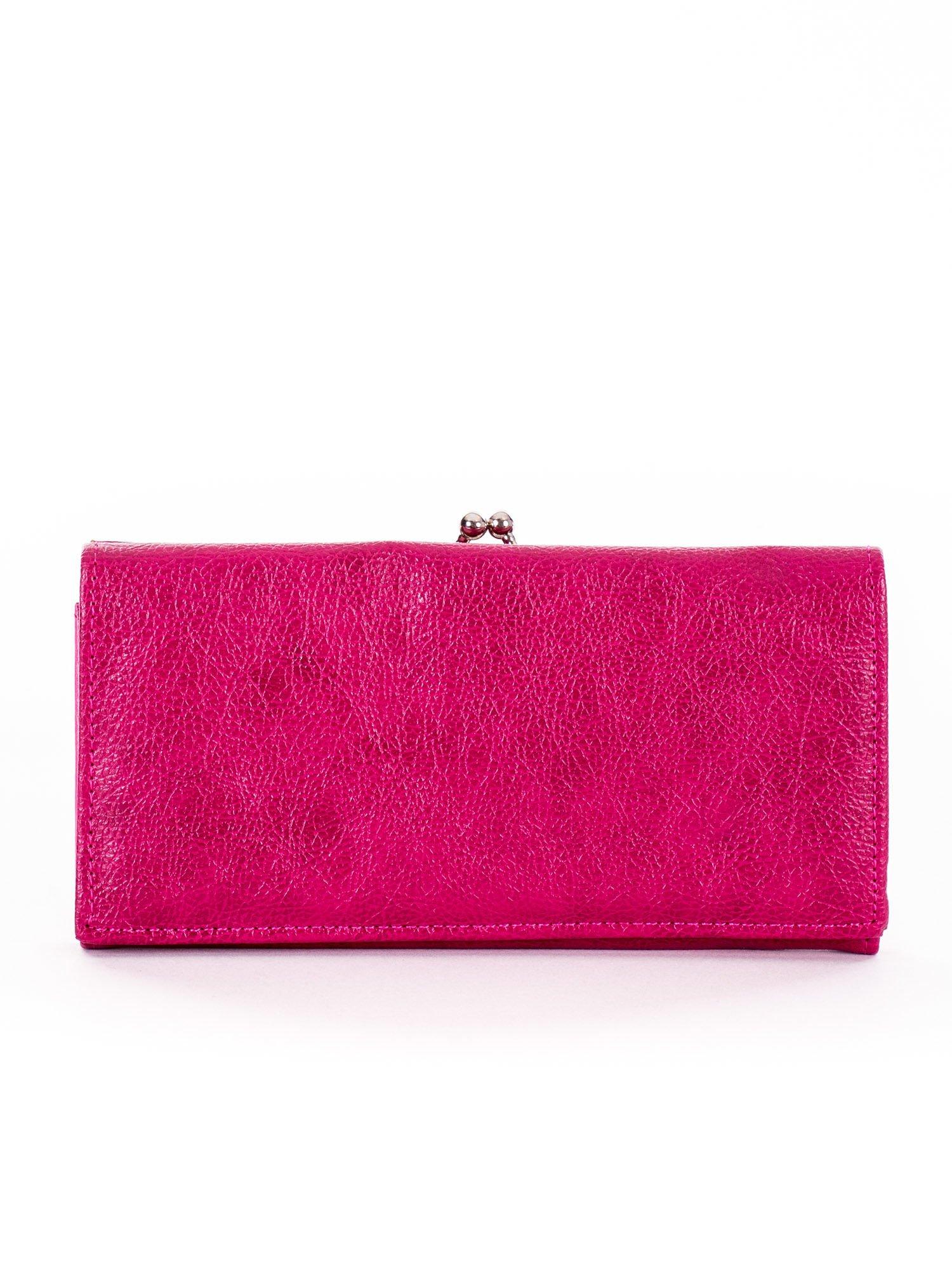 3110166864d69 Różowy portfel damski z biglem - Akcesoria portfele - sklep eButik.pl