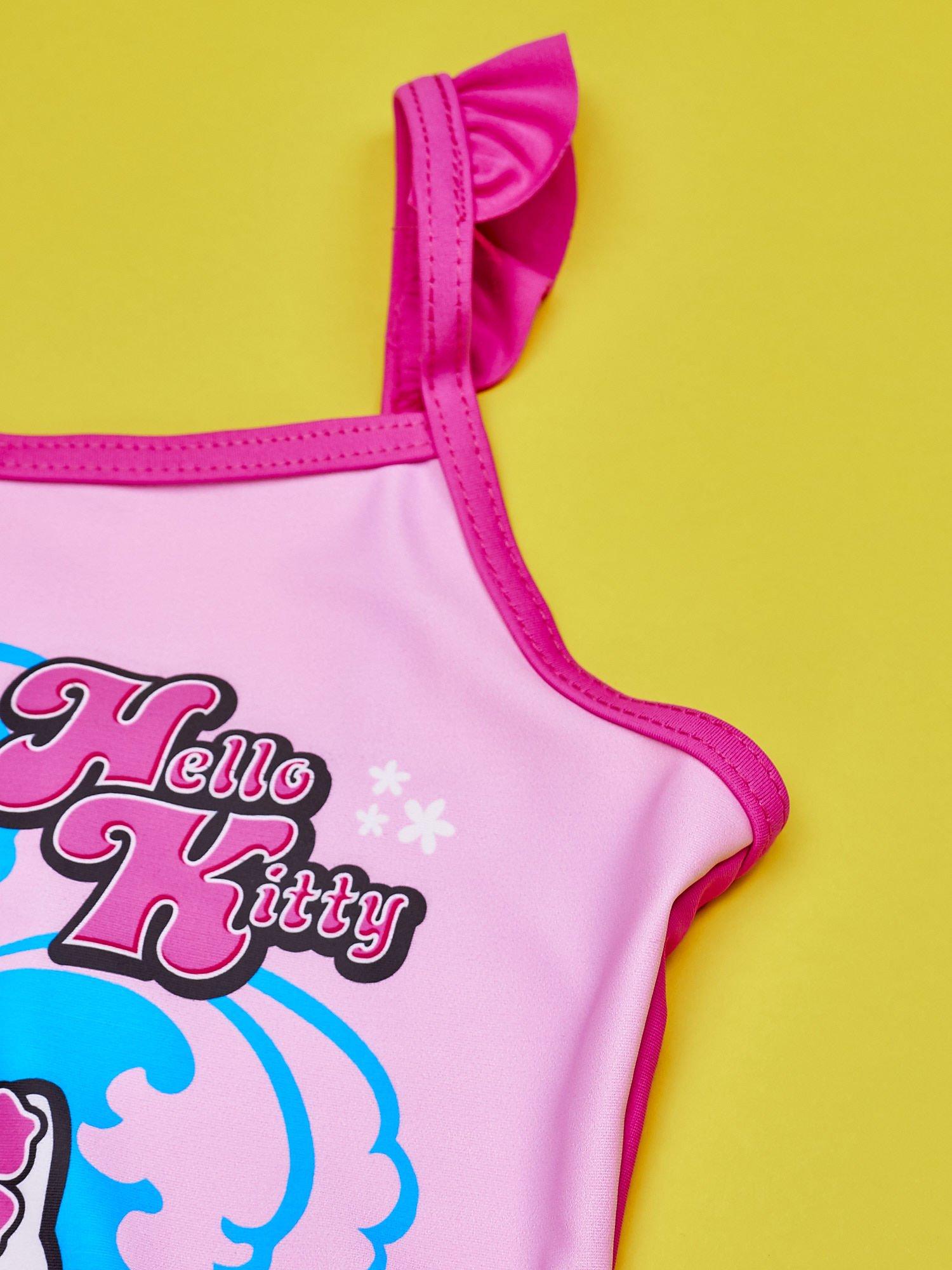 Różowy strój kąpielowy dla dziewczynki HELLO KITTY                                  zdj.                                  4