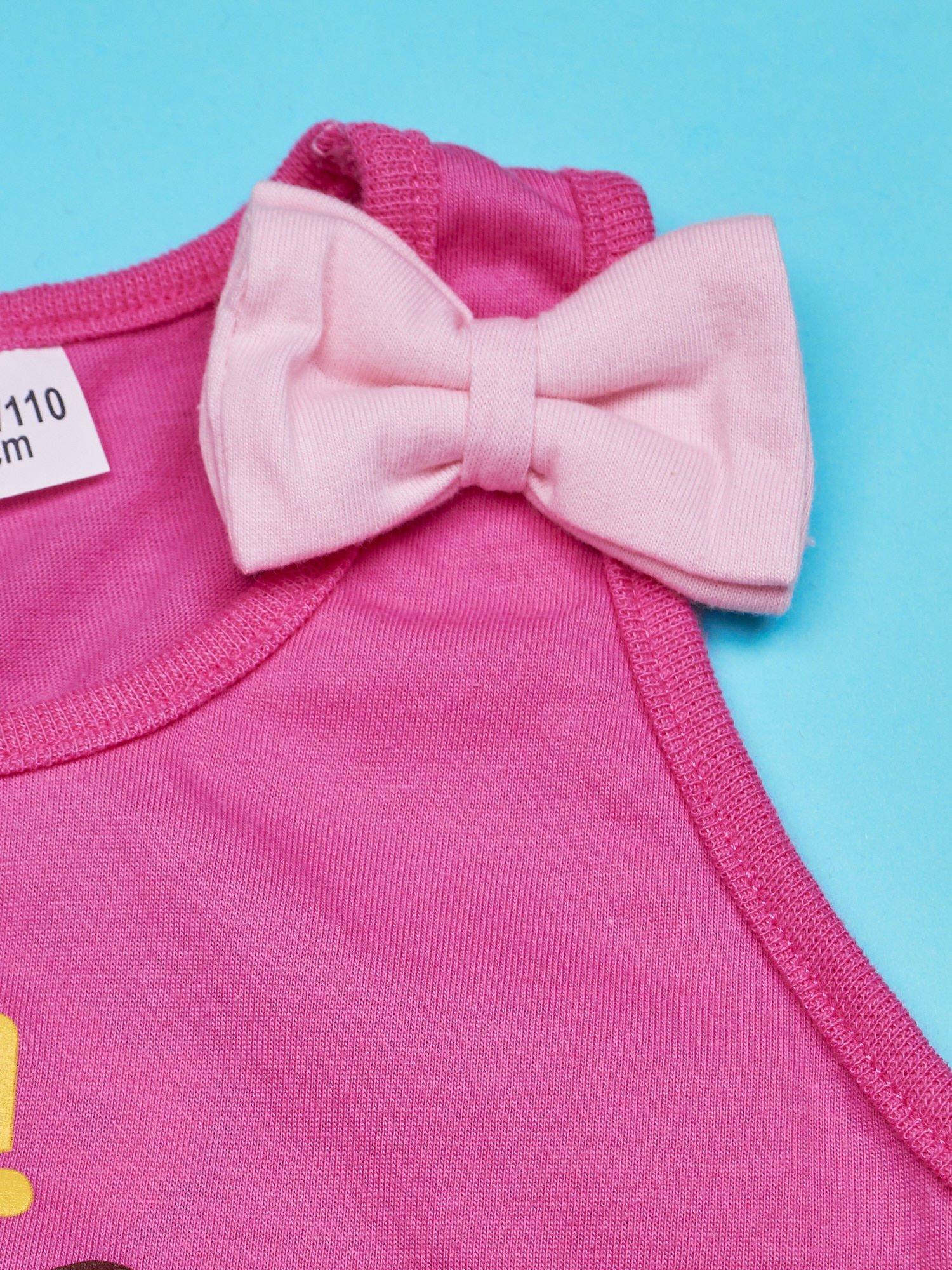Różowy t-shirt dla dziewczynki bez rękawów HELLO KITTY                                  zdj.                                  4