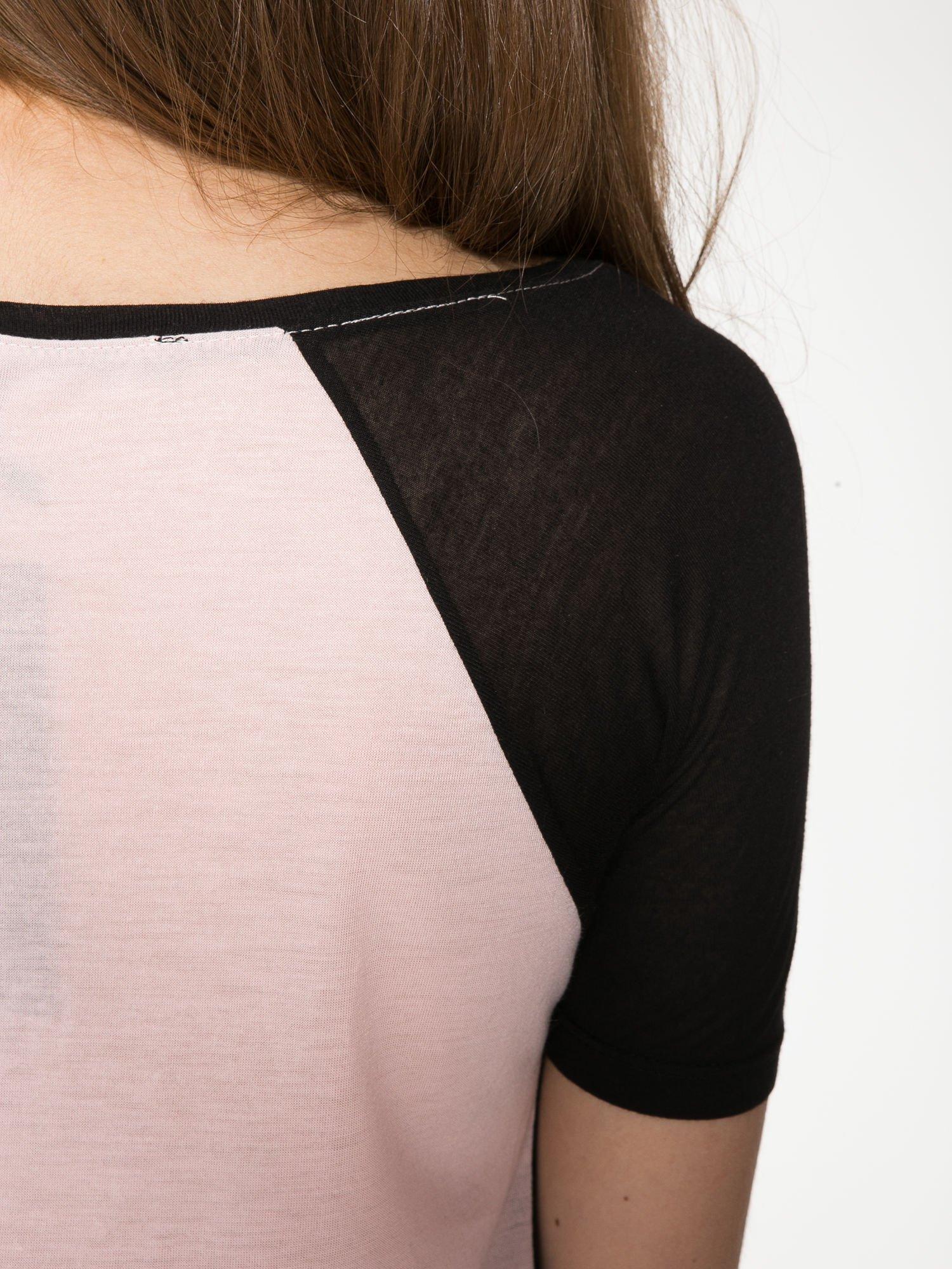 Różowy t-shirt z napisem TOGETHER IS MY FAVOURITE PLACE TO BE                                  zdj.                                  10