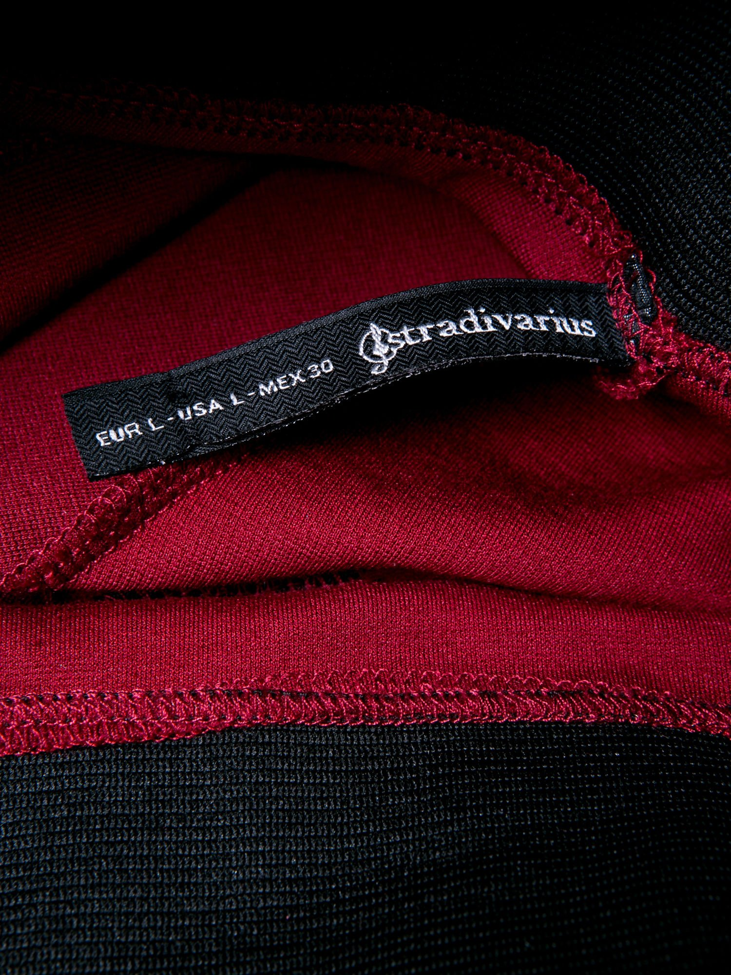 STRADIVARIUS Bordowe legginsy z wysokim stanem i zamkami                                  zdj.                                  3