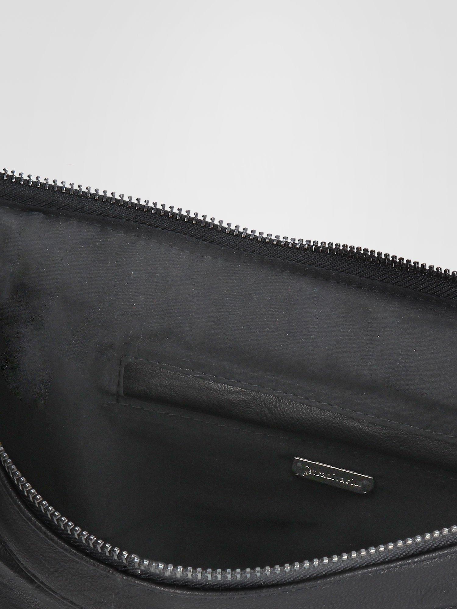 STRADIVARIUS Czarna torba z zipami                                  zdj.                                  3