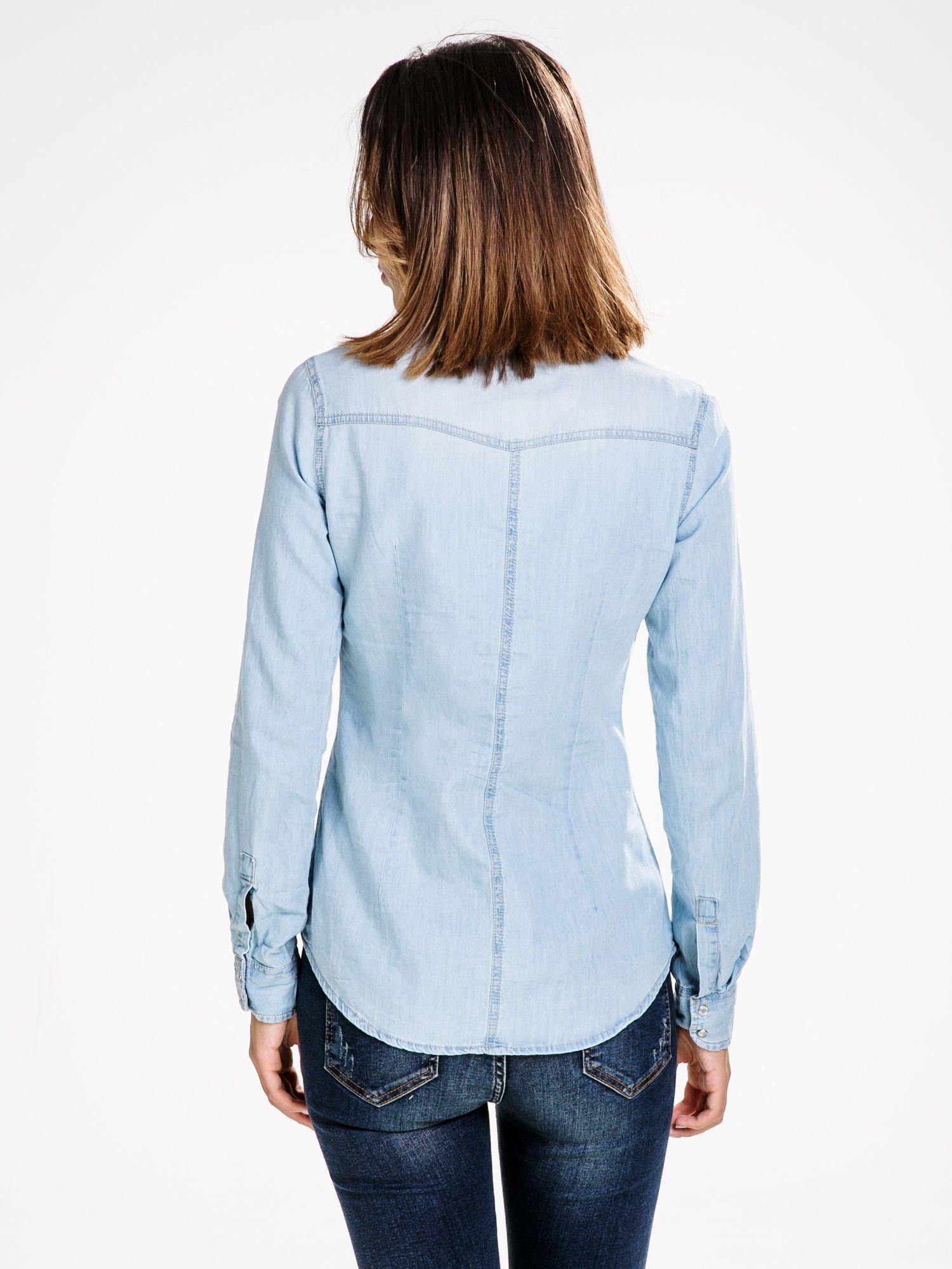 STRADIVARIUS Jeansowa koszula z kieszonkami                                  zdj.                                  2