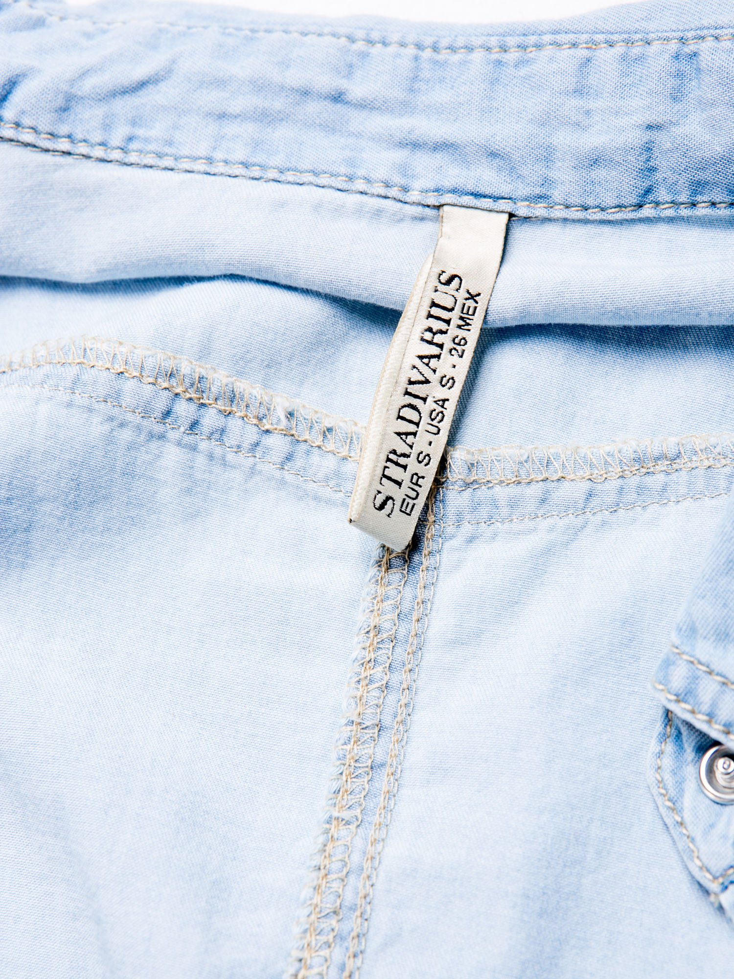 STRADIVARIUS Jeansowa koszula z kieszonkami                                  zdj.                                  3