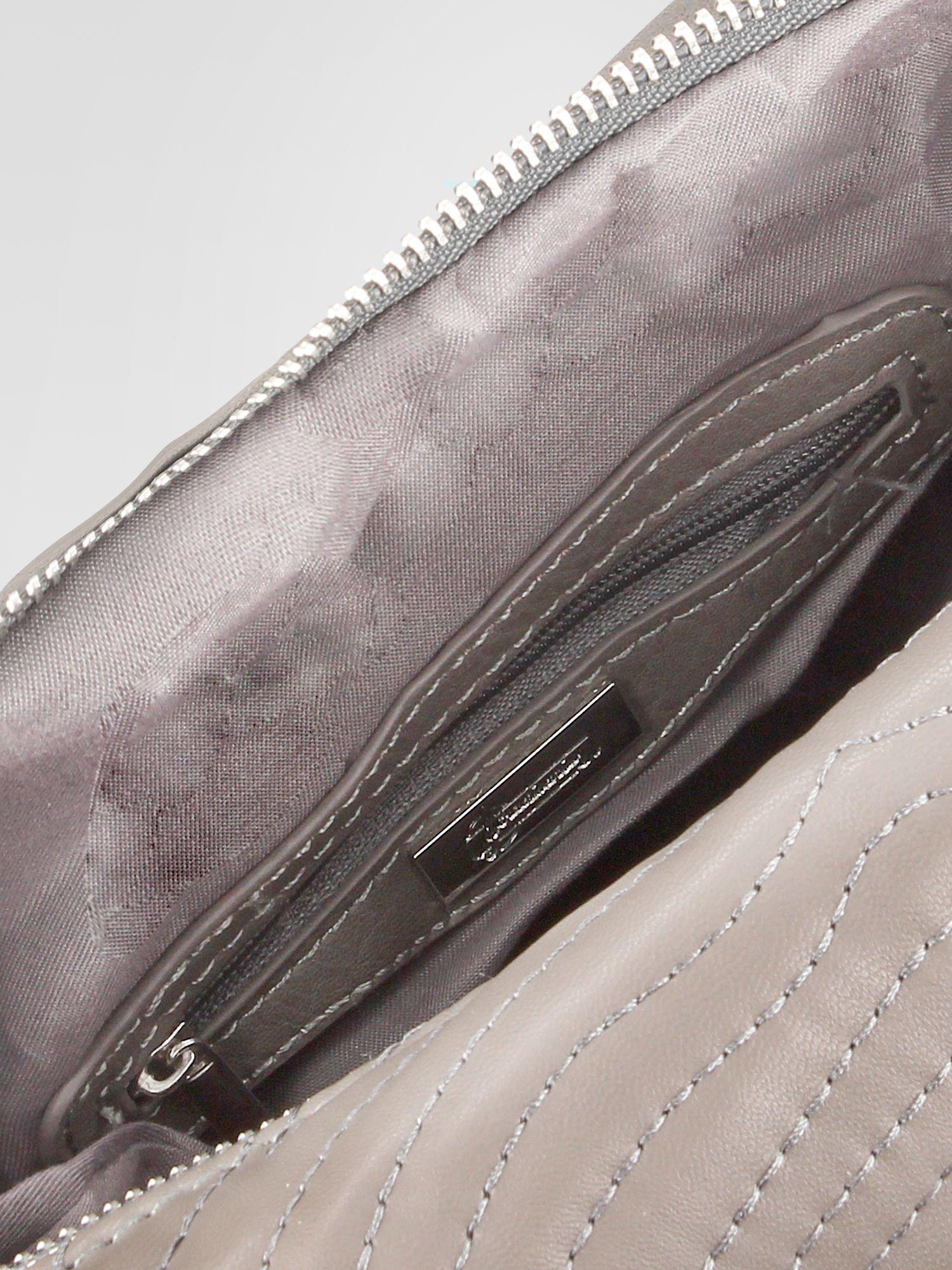 STRADIVARIUS Szara torba z bocznymi zipami                                  zdj.                                  3