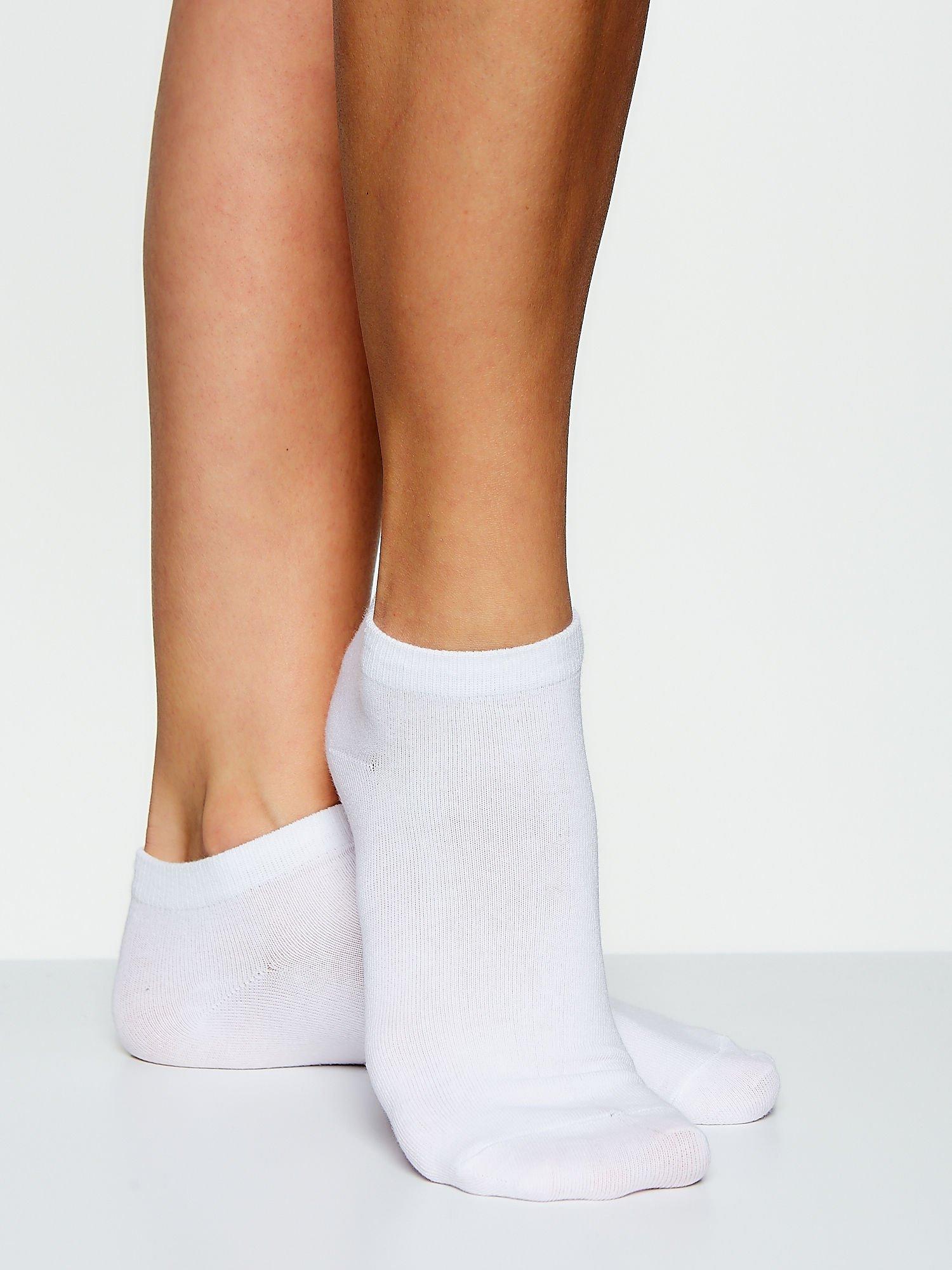 Skarpetki damskie stopki biały bacis zestaw 2 pary                                  zdj.                                  2