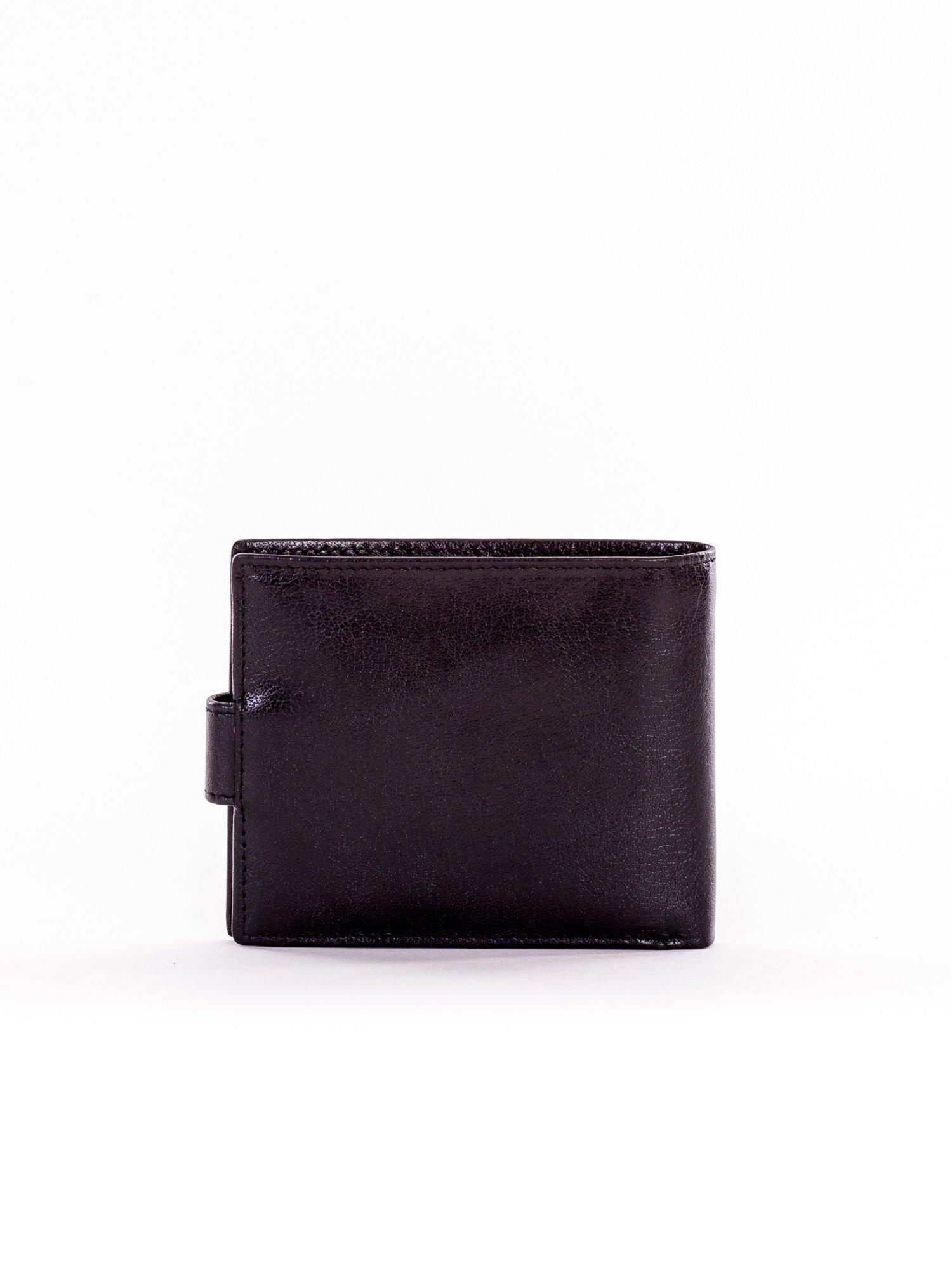 ad8c539c972d6 Skórzany mały portfel męski zapinany na napę - Mężczyźni portfel męski -  sklep eButik.pl