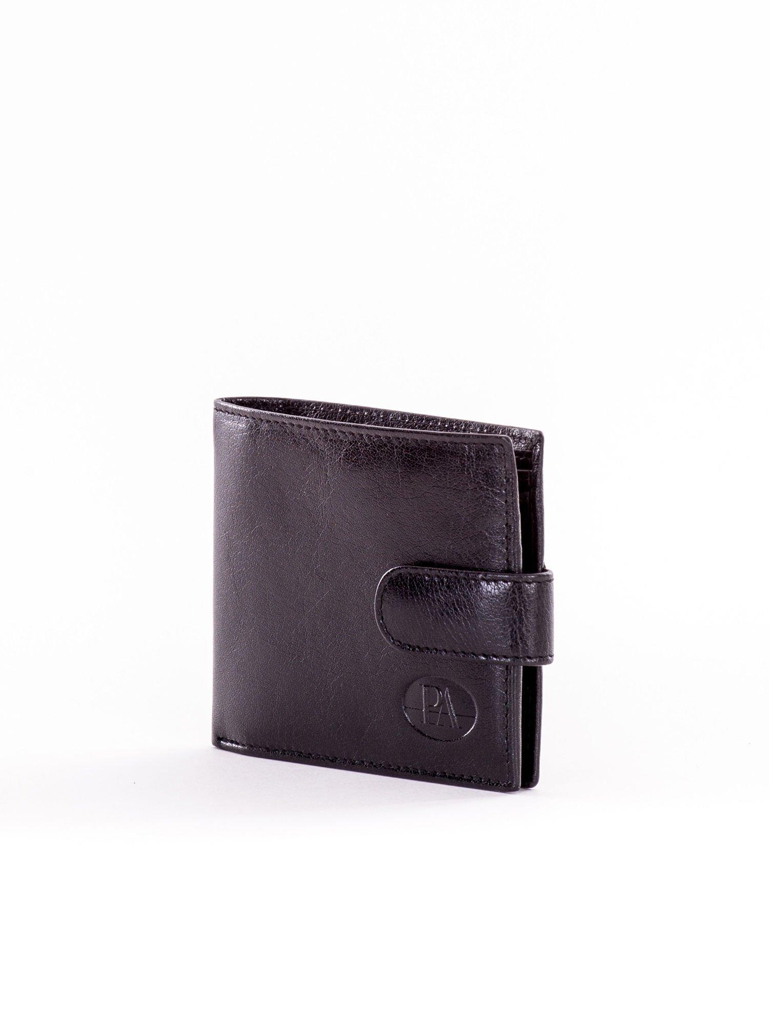 f8ae5edd7bded Skórzany mały portfel męski zapinany na napę - Mężczyźni portfel ...
