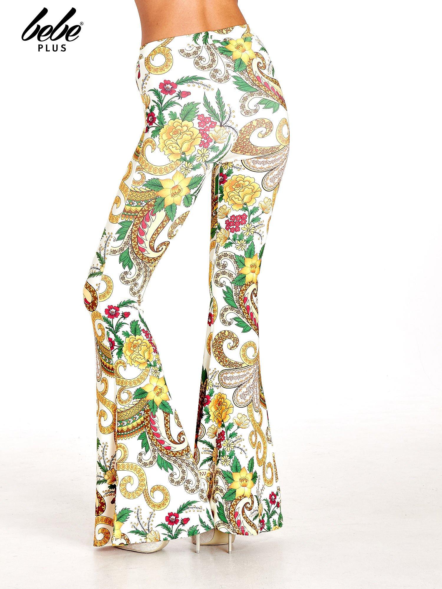 Spodnie dzwony we wzór kwiatowy                                  zdj.                                  4