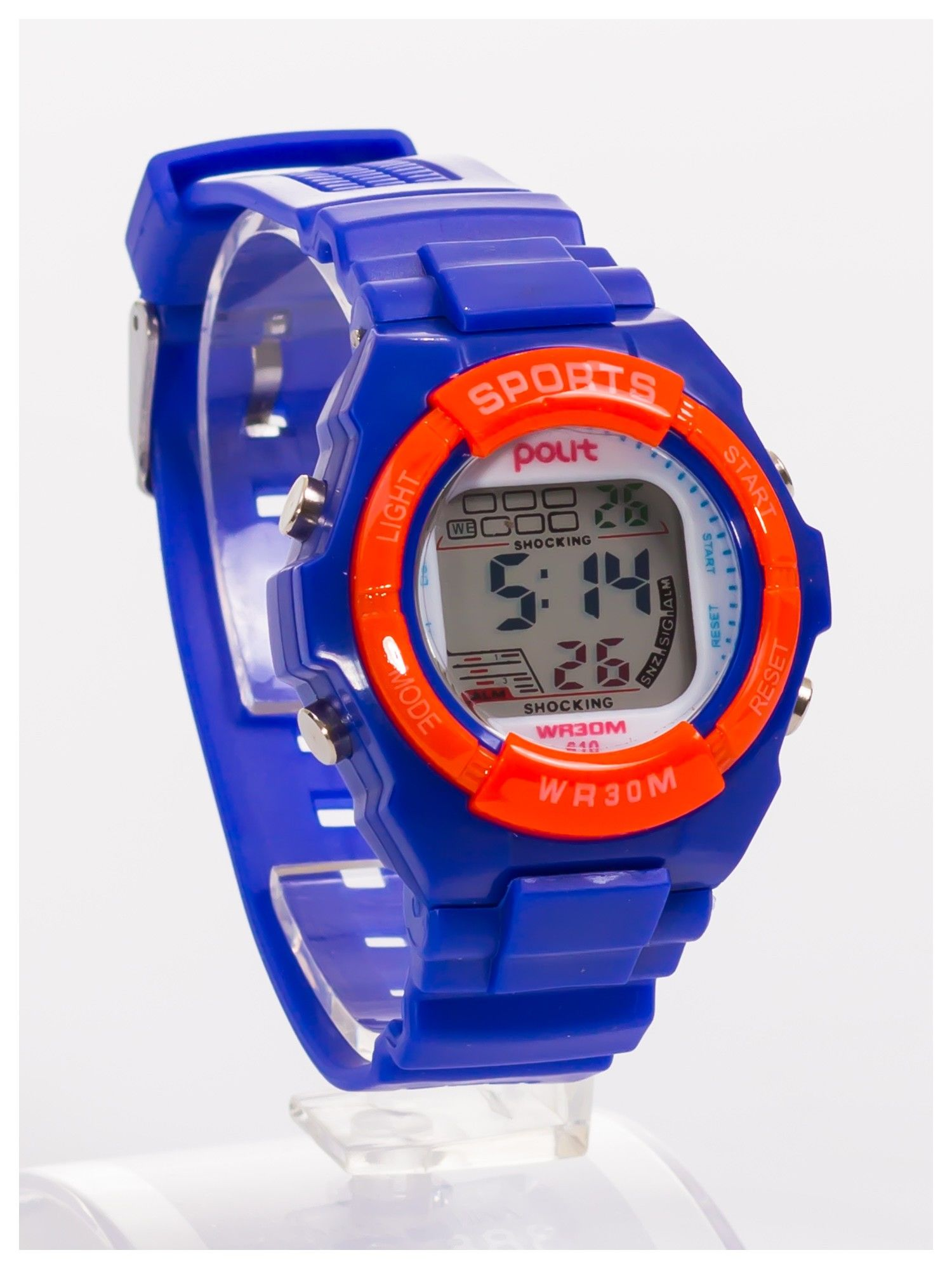 Sportowy zegarek wielofunkcyjny. Łatwy w obsłudze. Wodoodporny.                                   zdj.                                  3