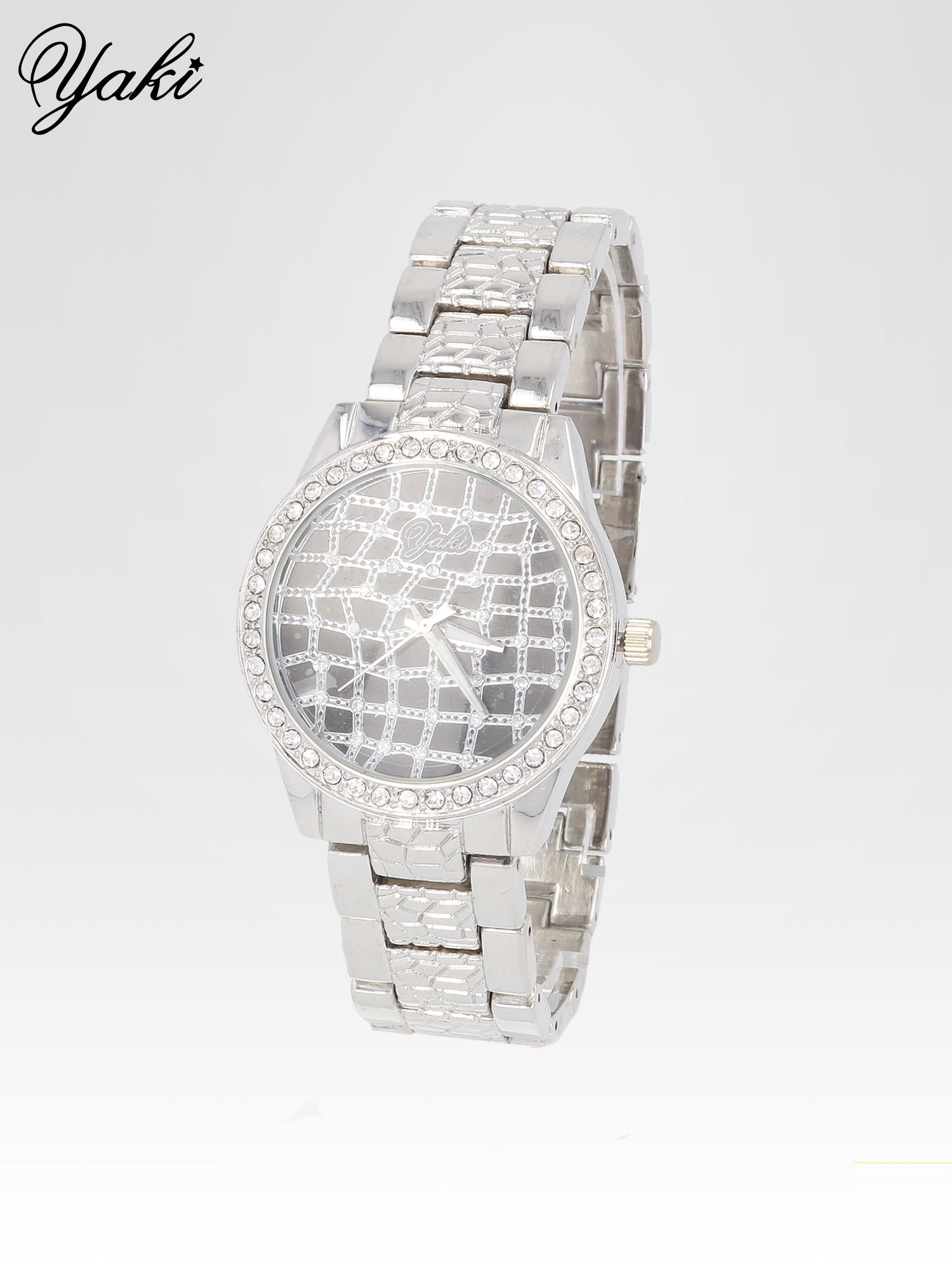 Srebrny zegarek damski na bransolecie z cyrkoniową kopertą                                  zdj.                                  2