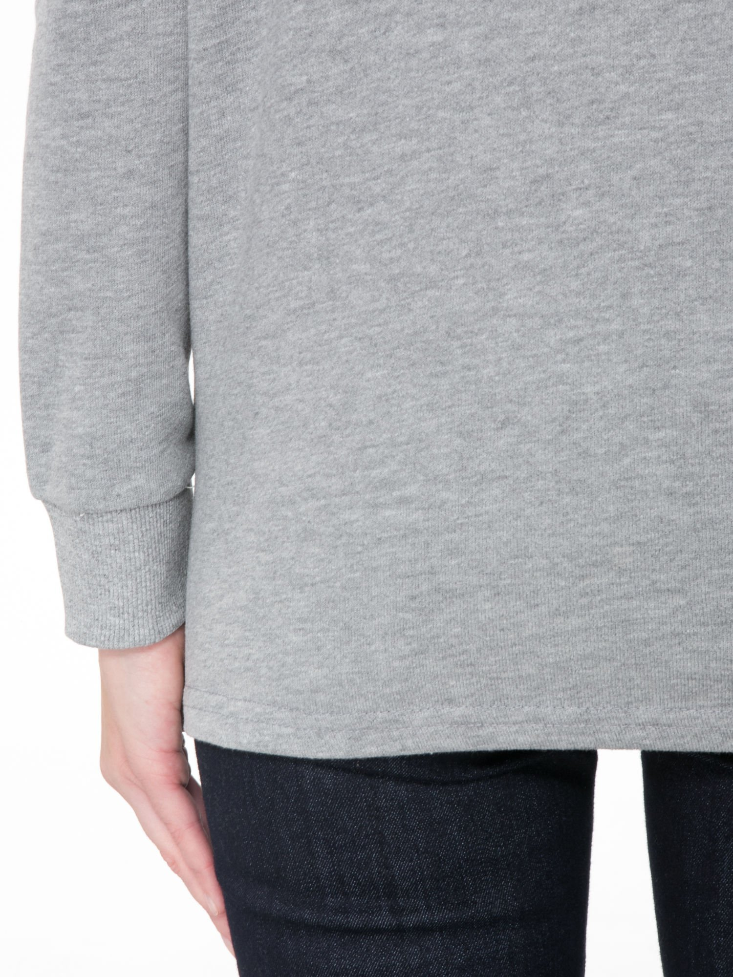 Szara bluza z narukiem AIN'T LAURENT WITHOUT YVES                                  zdj.                                  8