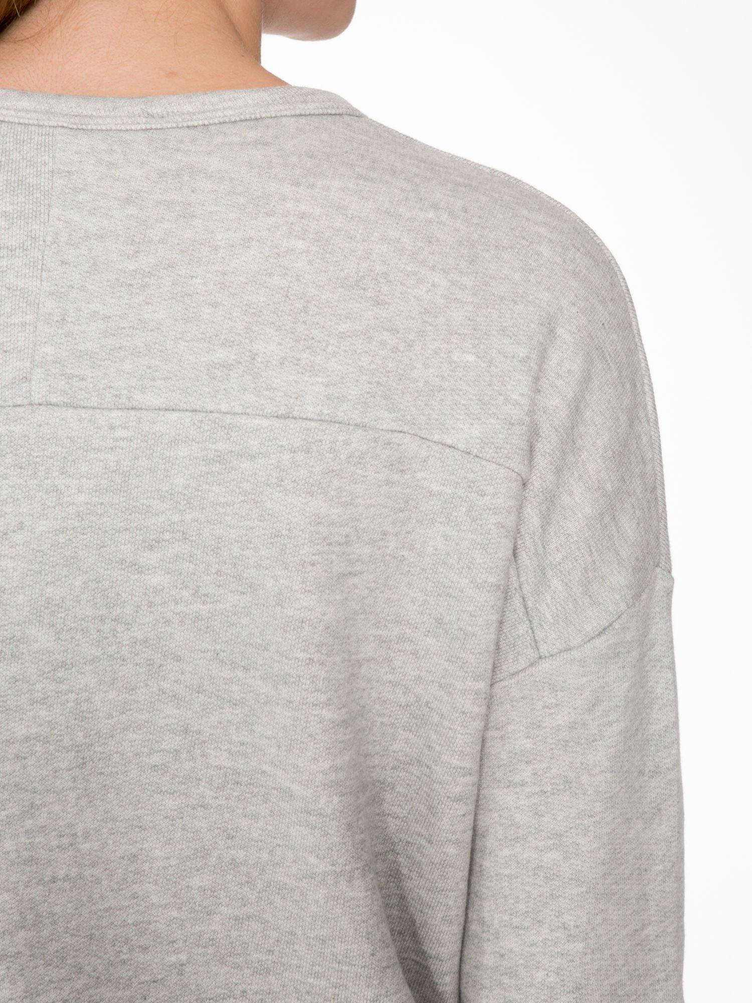 Szara bluza z ozdobnym suwakiem                                  zdj.                                  7