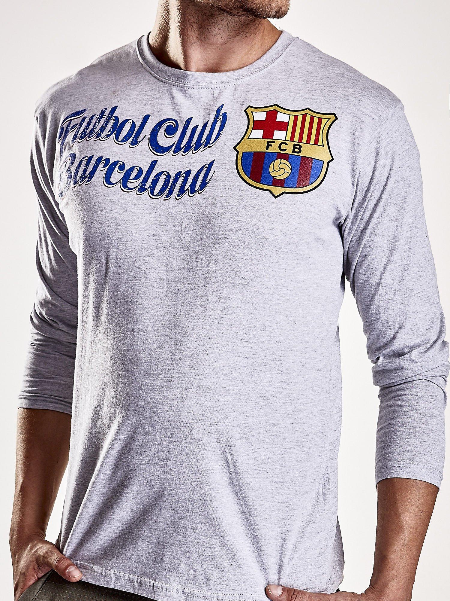 Szara bluzka męska FC BARCELONA                                  zdj.                                  6