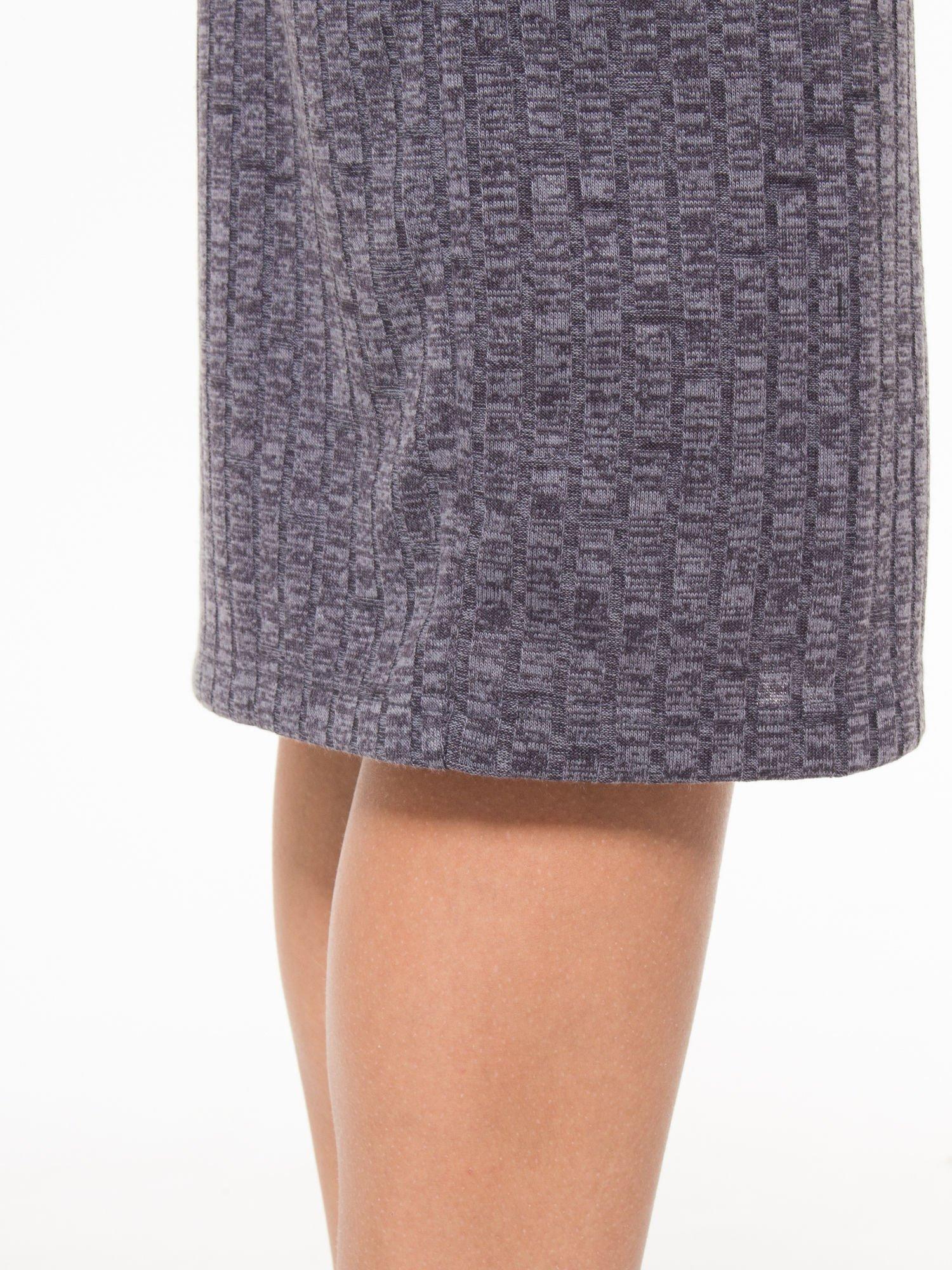 Szara dzianinowa spódnica za kolano                                  zdj.                                  7