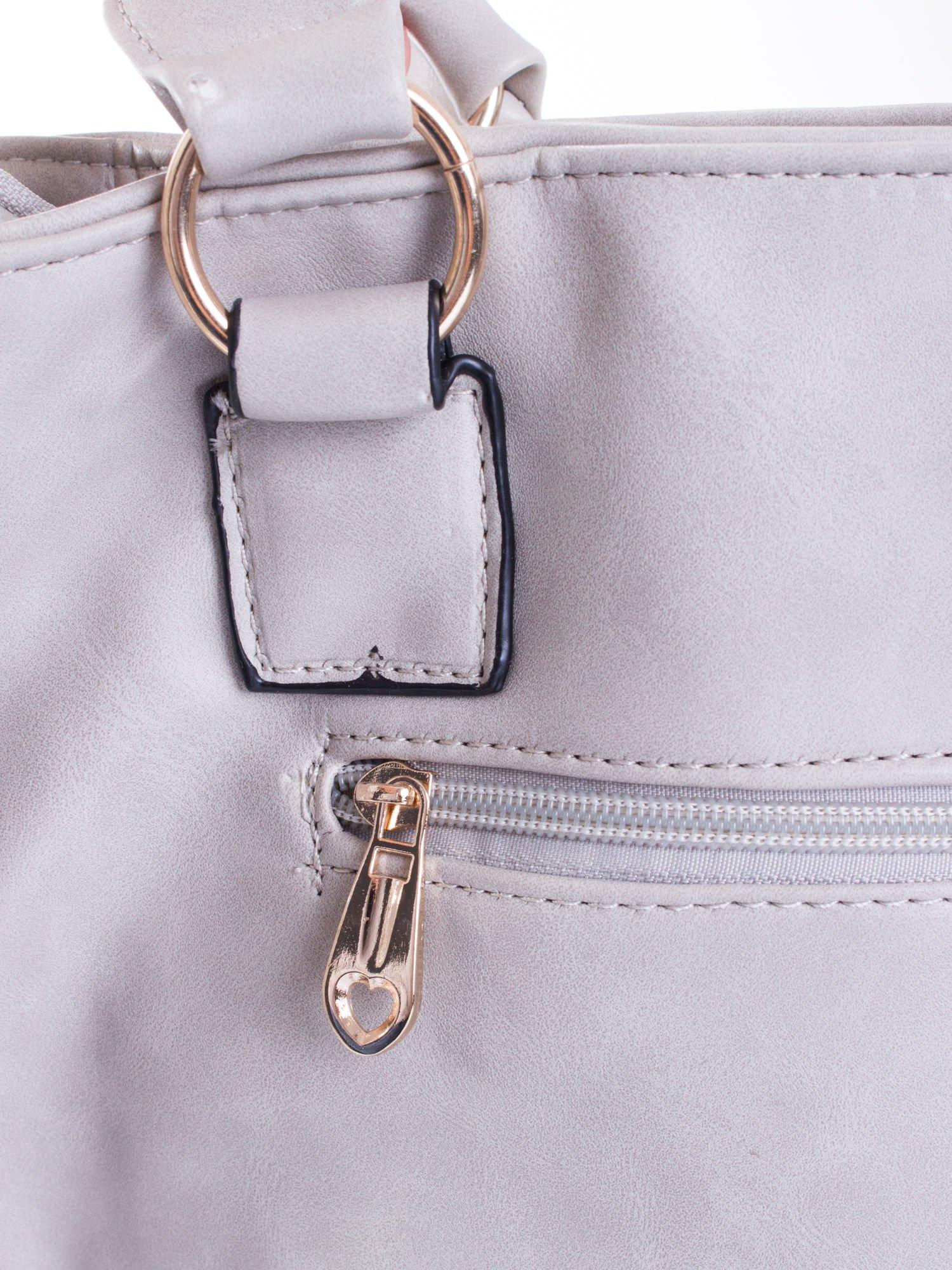 Szara pikowana torba na ramię                                  zdj.                                  9