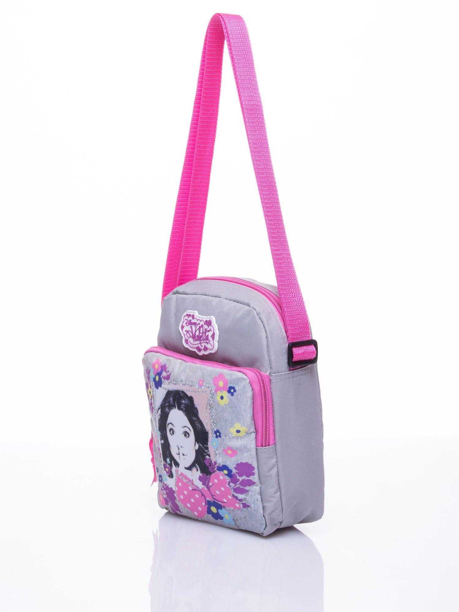 Szara pionowa torba szkolna DISNEY Violetta                                  zdj.                                  2