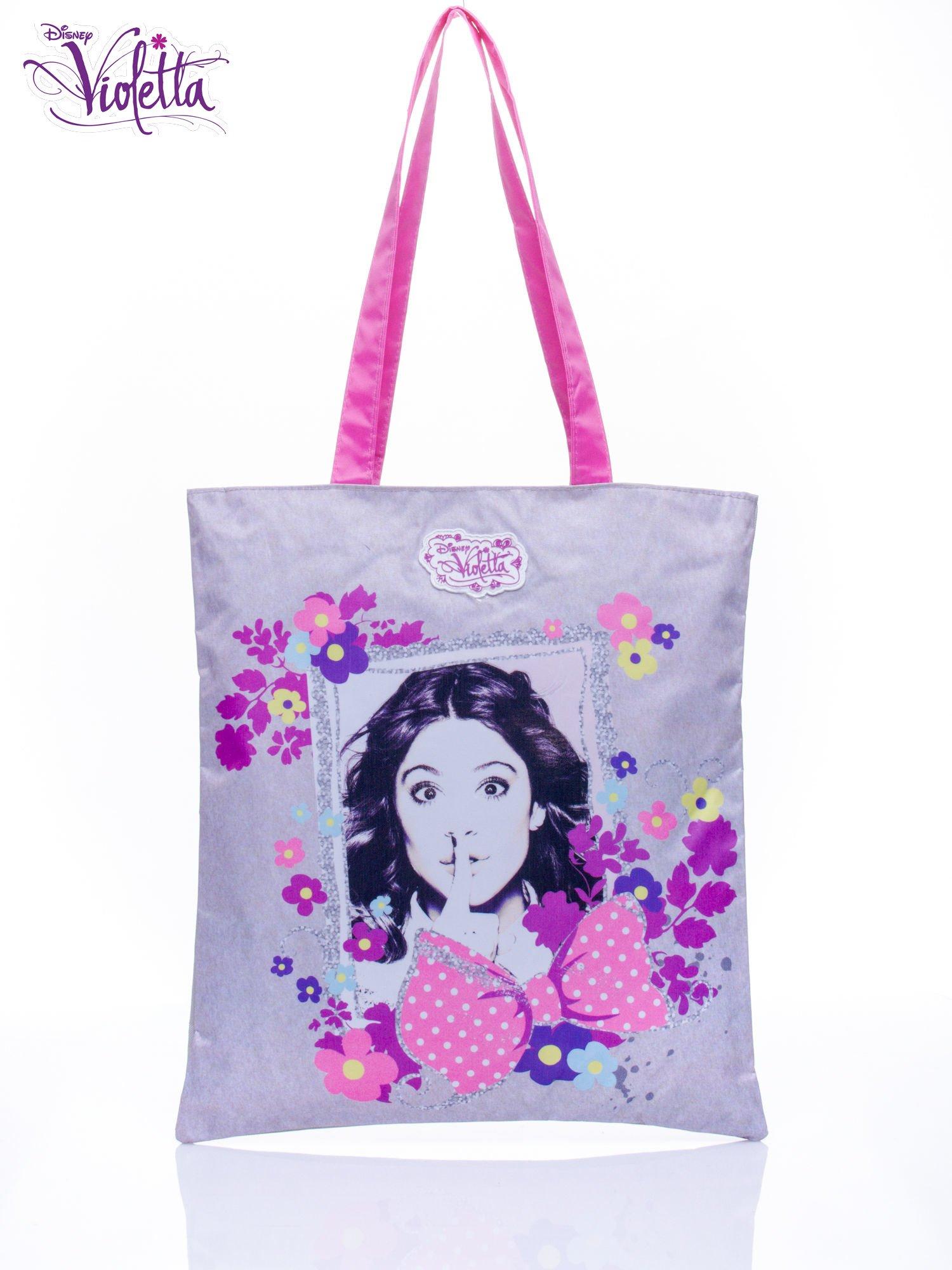Szara torba shopper bag dla dziewczynki DISNEY Violetta                                  zdj.                                  1