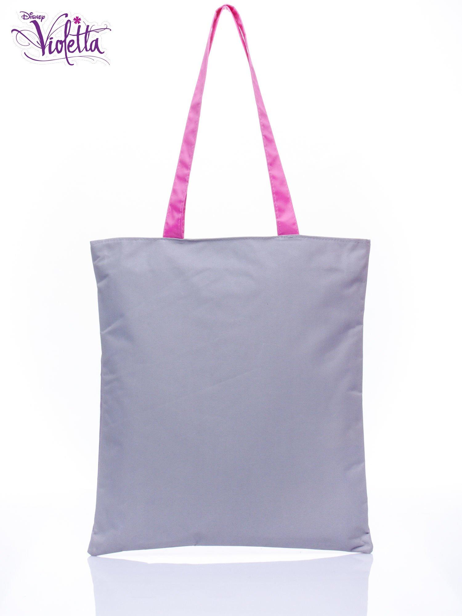 Szara torba shopper bag dla dziewczynki DISNEY Violetta                                  zdj.                                  2