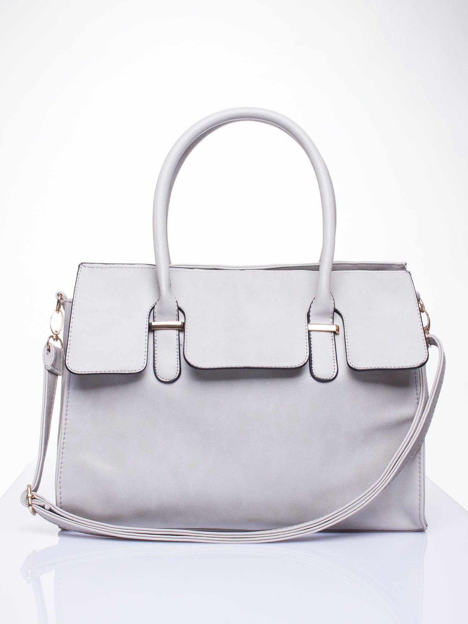 Szara torebka teczka z klapką                                  zdj.                                  1