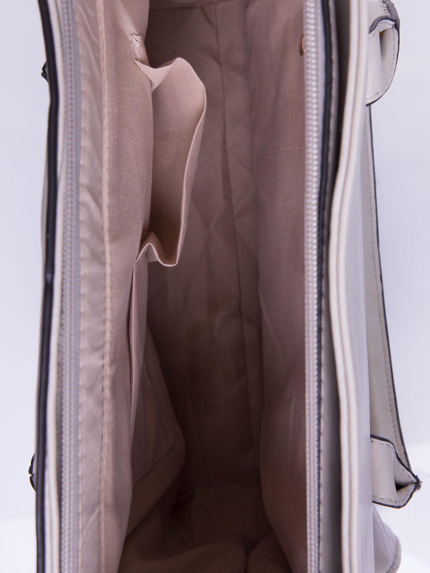 Szara torebka teczka z klapką                                  zdj.                                  5
