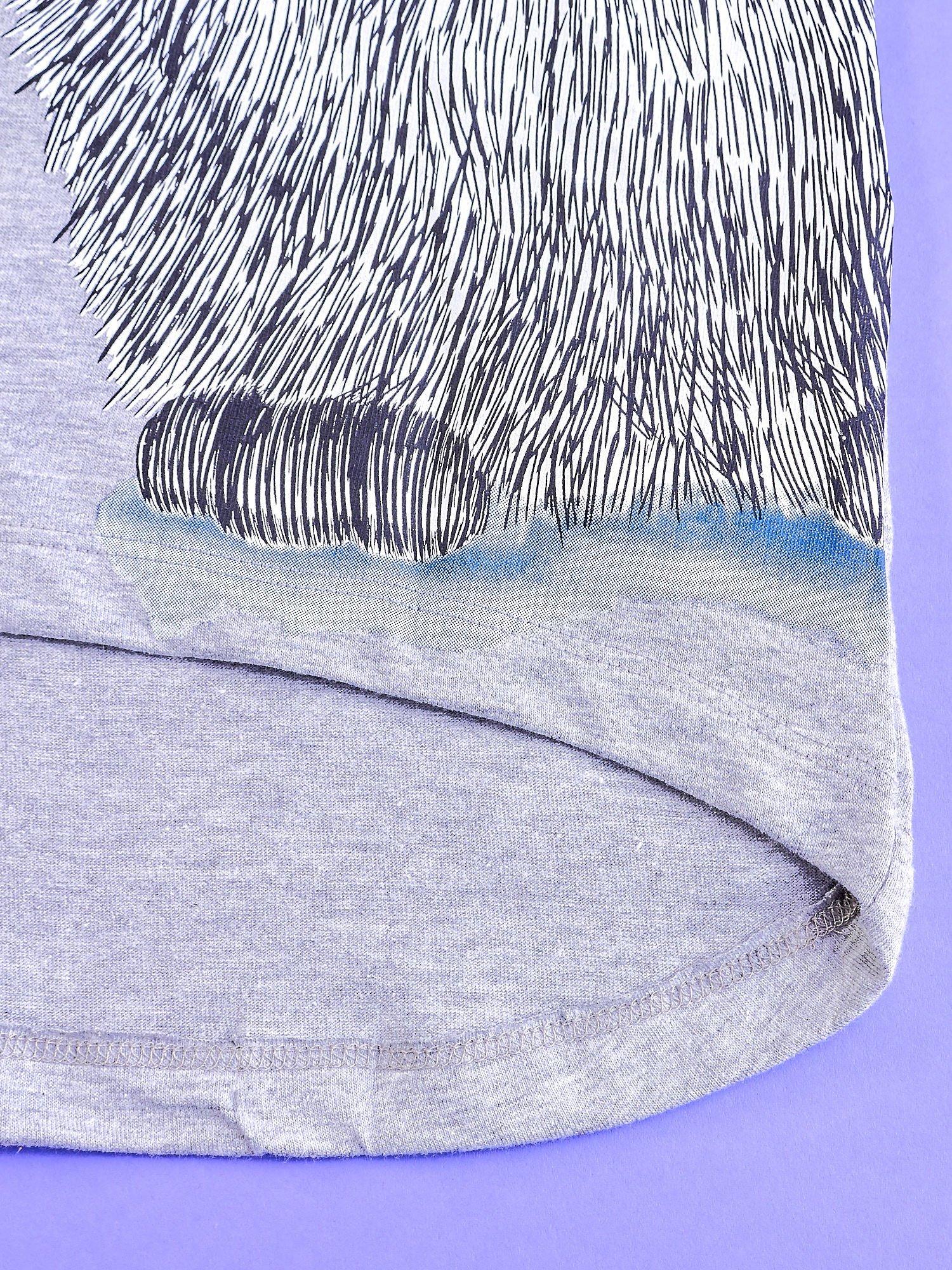 Szara tunika dla dziewczynki z nadrukiem FURBY                                  zdj.                                  5