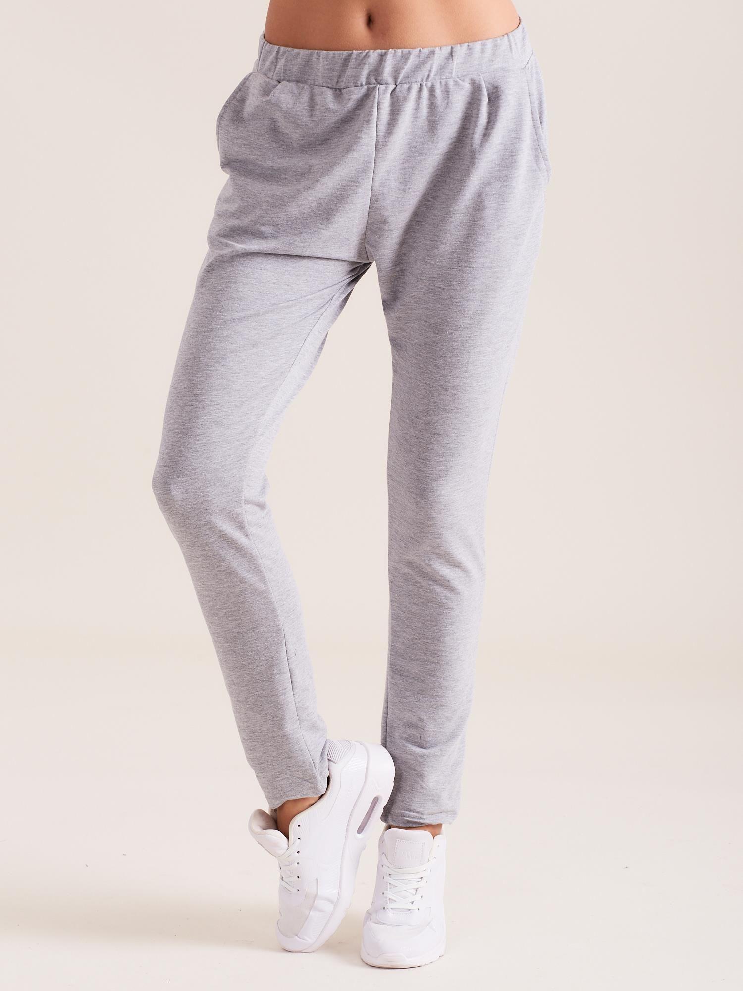5c5260338a4815 Szare damskie bawełniane spodnie dresowe - Spodnie Dresowe - sklep ...