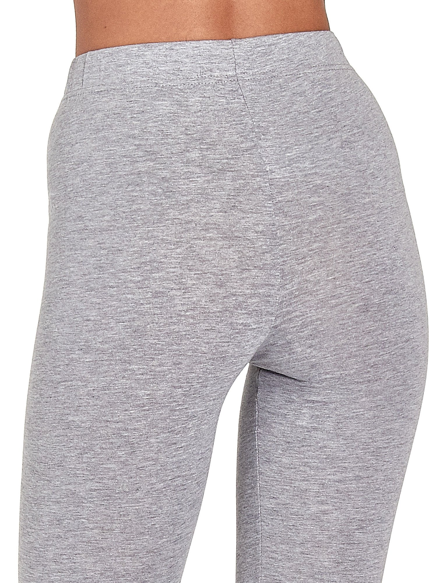 Szare melanżowe legginsy damskie basic                                  zdj.                                  7