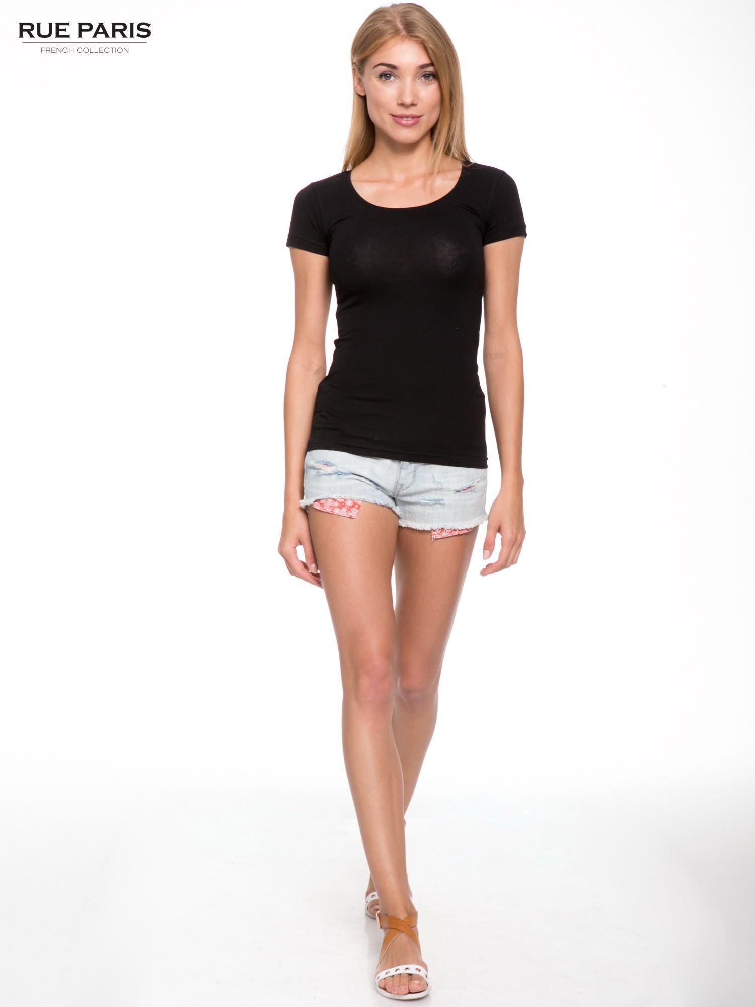 Szary gładki t-shirt                                  zdj.                                  4