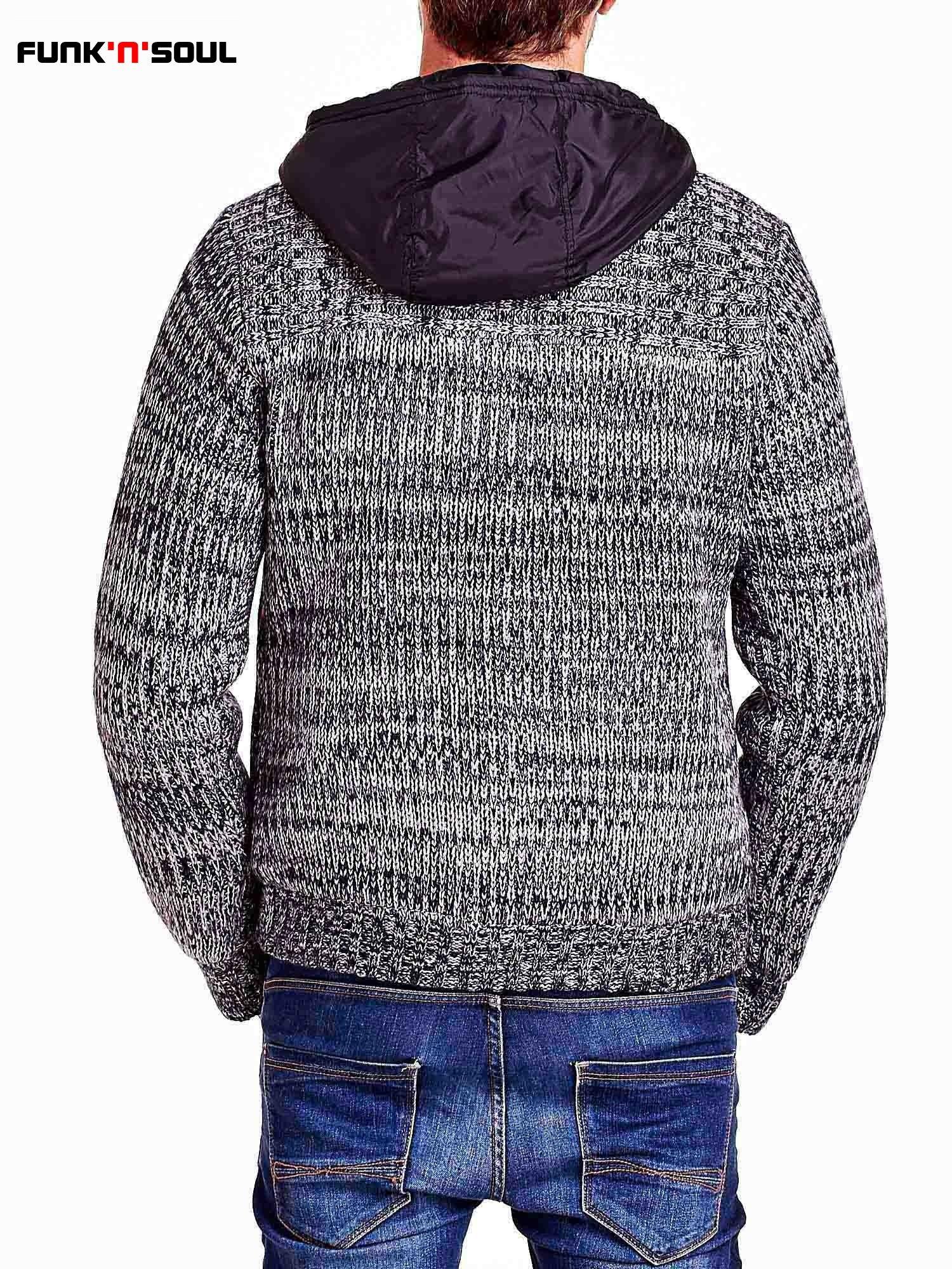Szary sweter męski z podszewką i kapturem FUNK N SOUL                                  zdj.                                  5