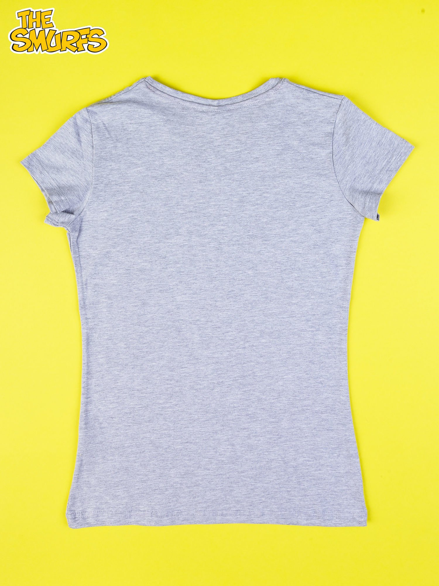 Szary t-shirt SMERFY                                  zdj.                                  2