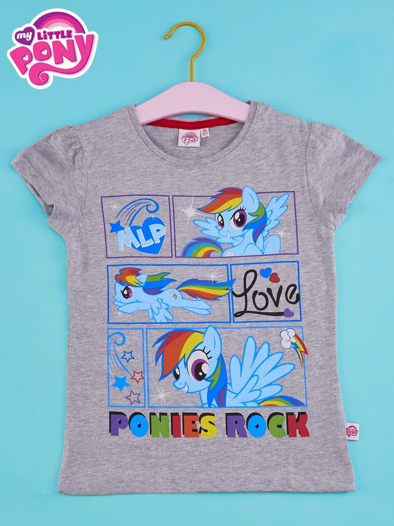 Szary t-shirt dla dziewczynki MY LITTLE PONY                                  zdj.                                  1