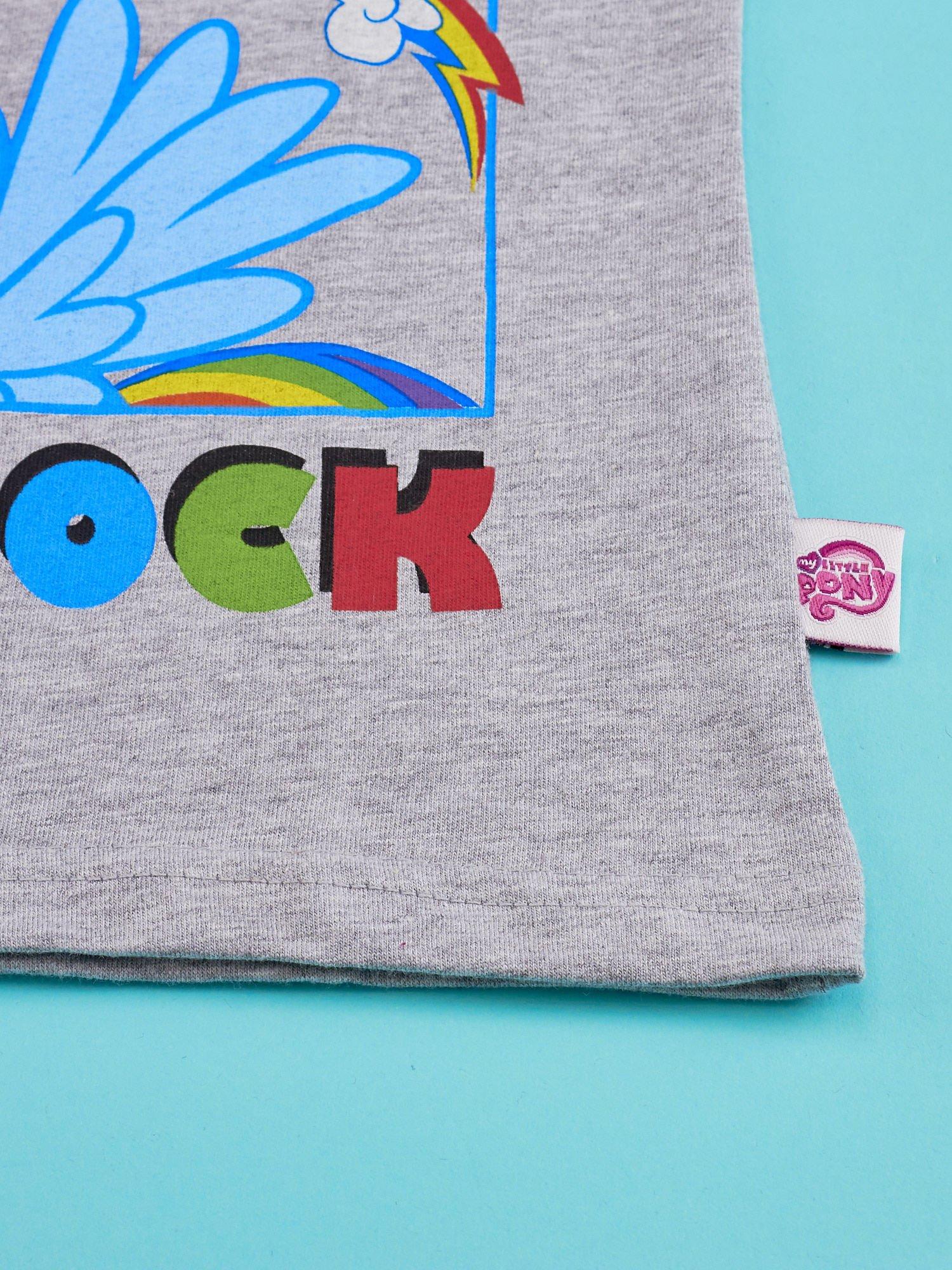 Szary t-shirt dla dziewczynki MY LITTLE PONY                                  zdj.                                  4